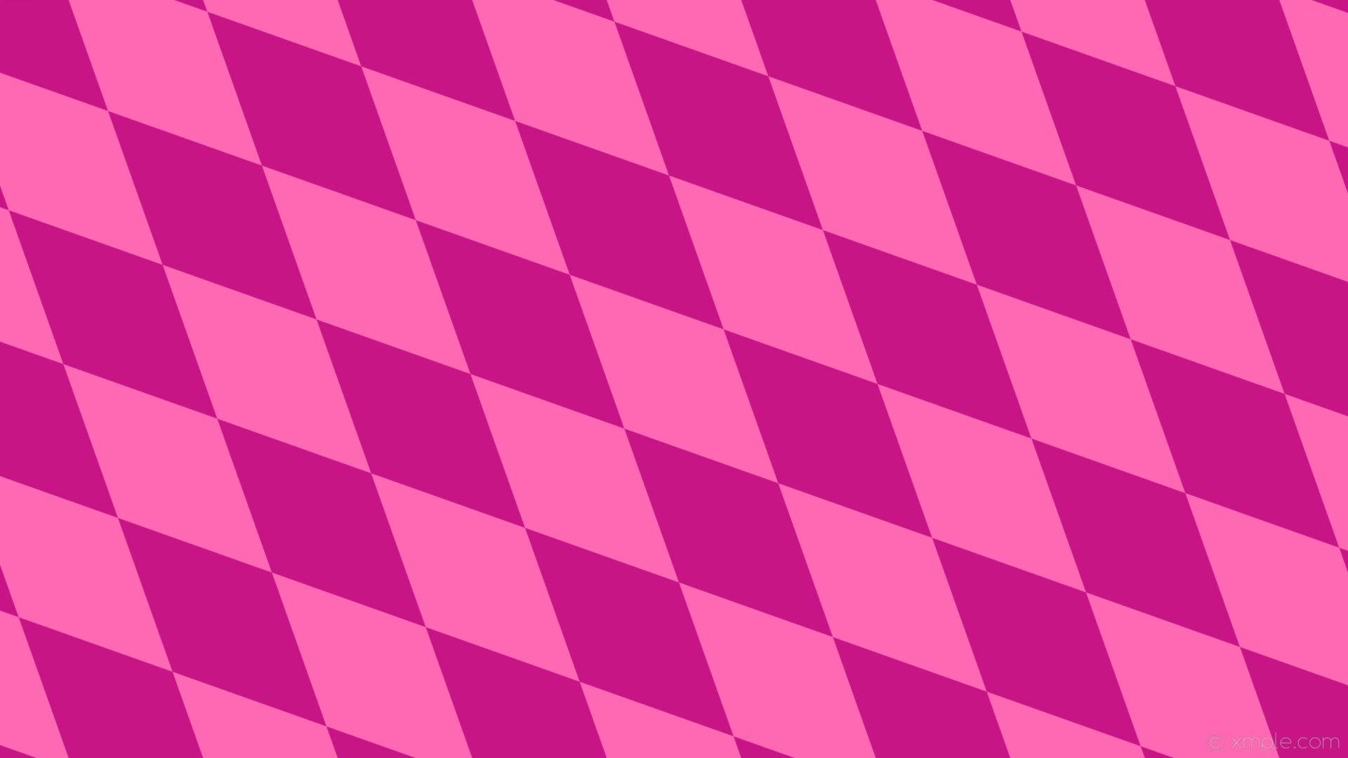 Res: 1920x1080, wallpaper pink diamond lozenge rhombus hot pink medium violet red #ff69b4  #c71585 135°