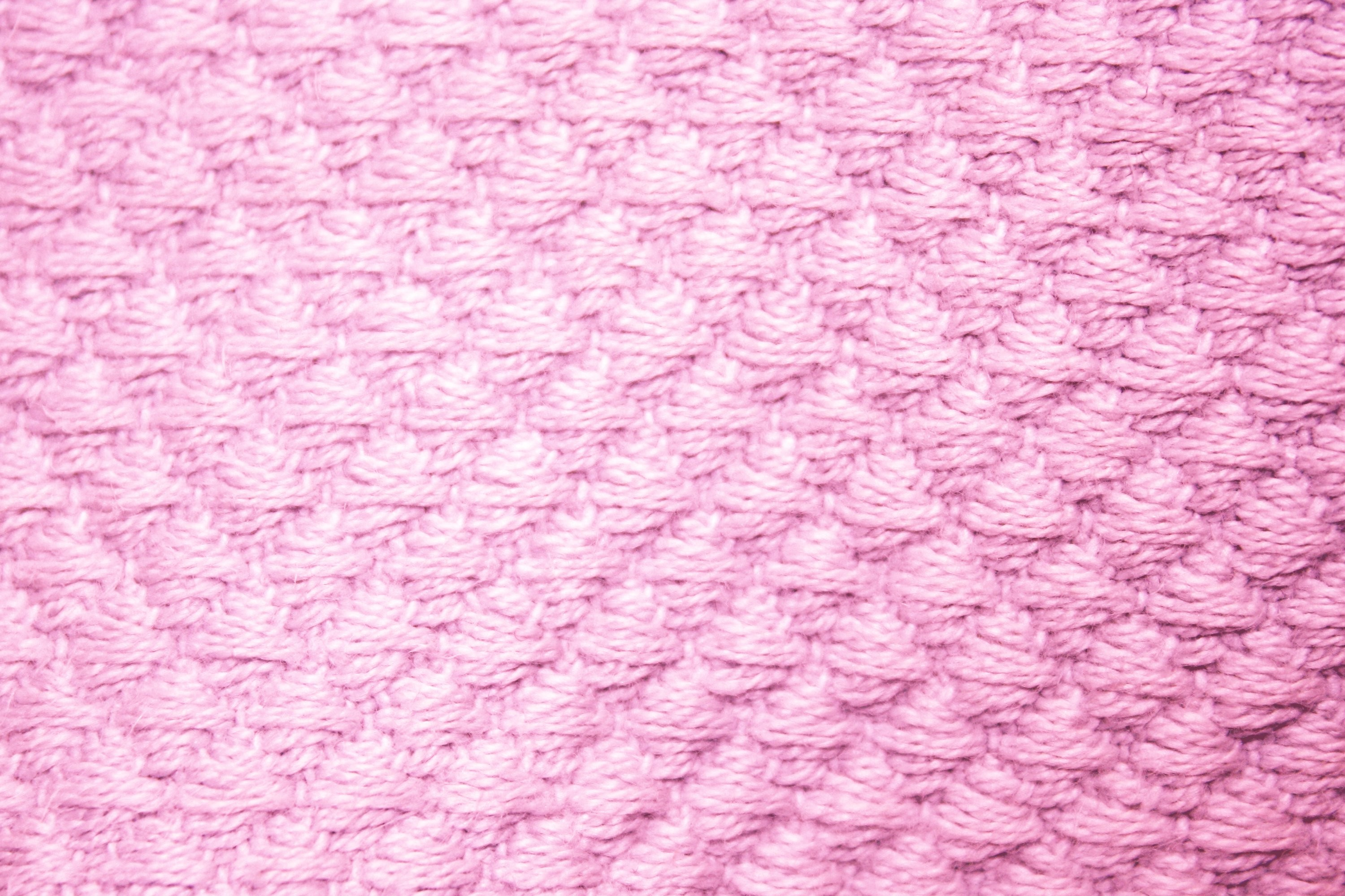 Res: 3000x2000, Pink Diamond Patterned Blanket Close Up Texture
