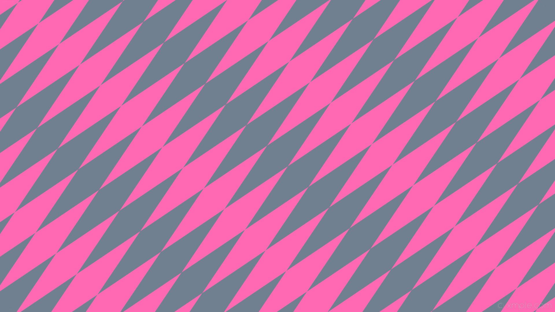 Res: 1920x1080, wallpaper rhombus lozenge pink diamond grey slate gray hot pink #708090  #ff69b4 45°