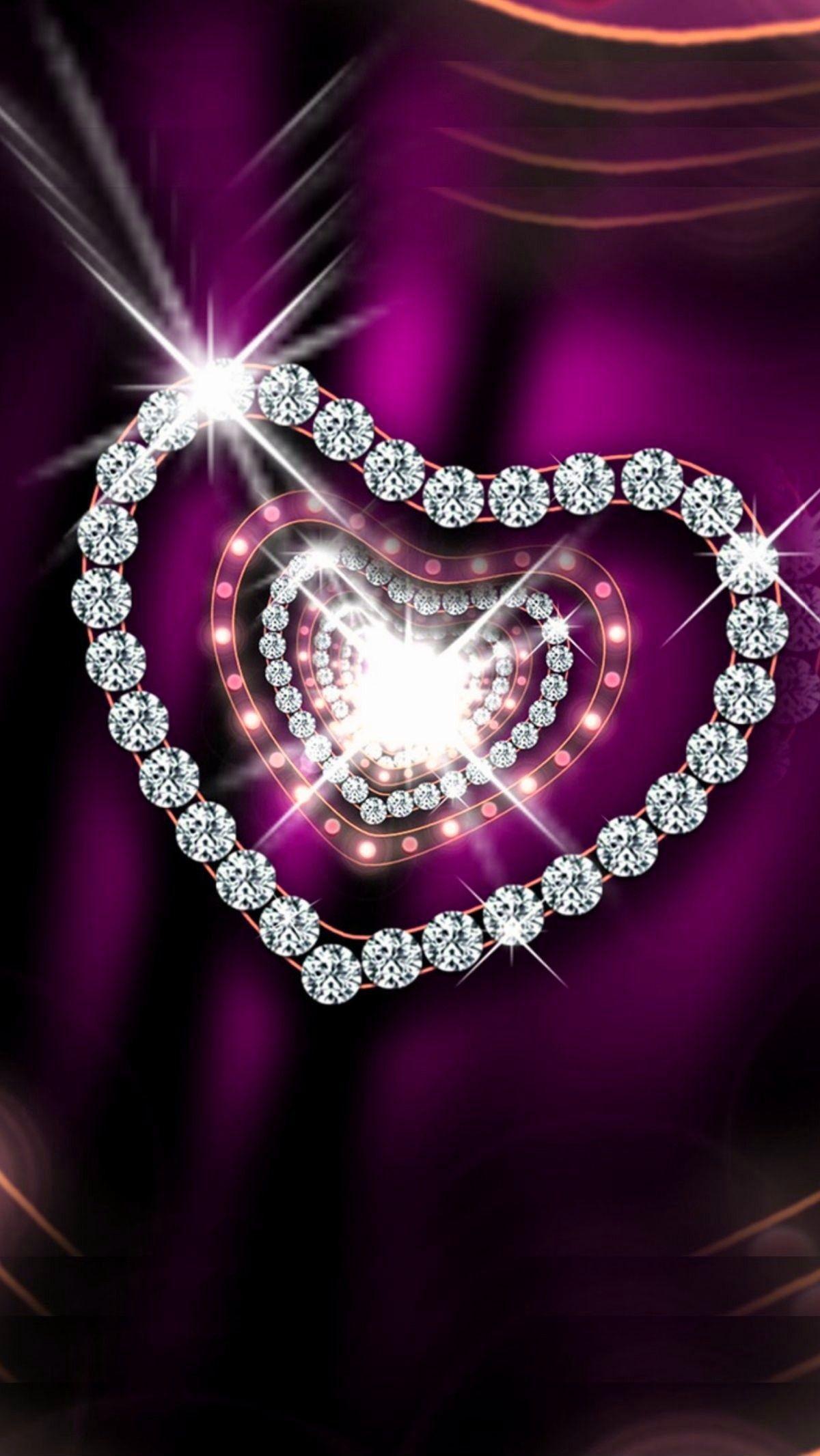 Res: 1200x2132, Purple and silver diamonds