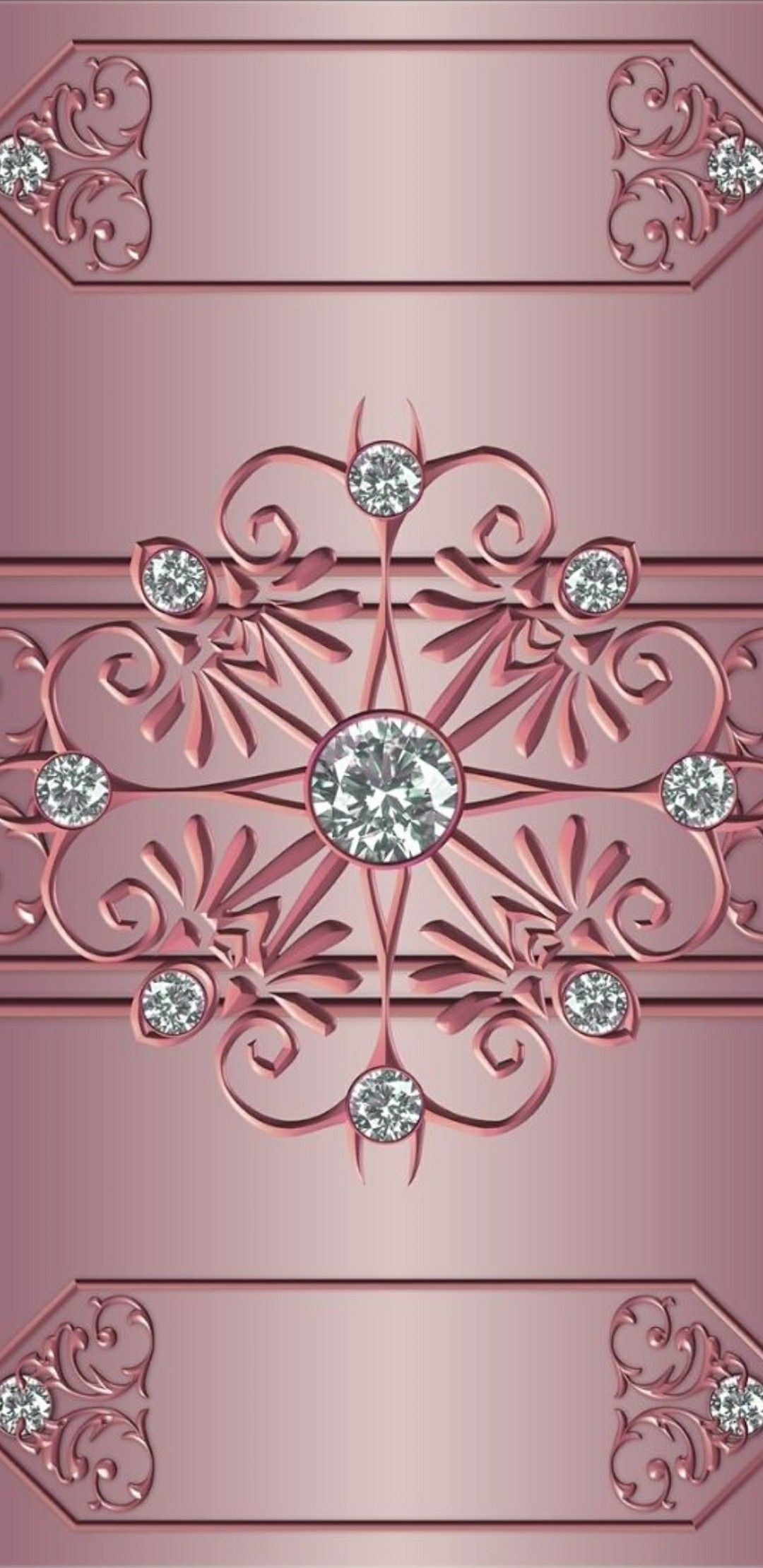Res: 1080x2220, Pink and silver sparkly diamond's