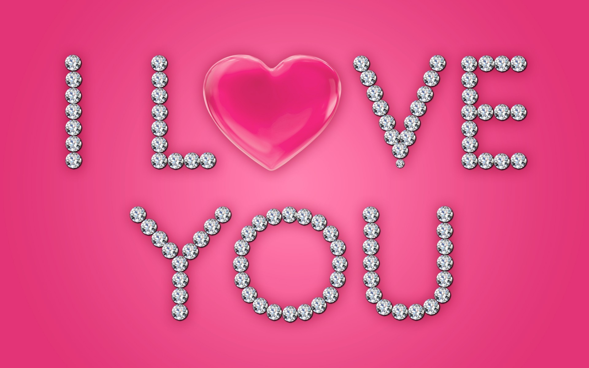 Res: 1920x1200, Image: I Love You Diamonds Pink Heart wallpapers and stock photos. Â«