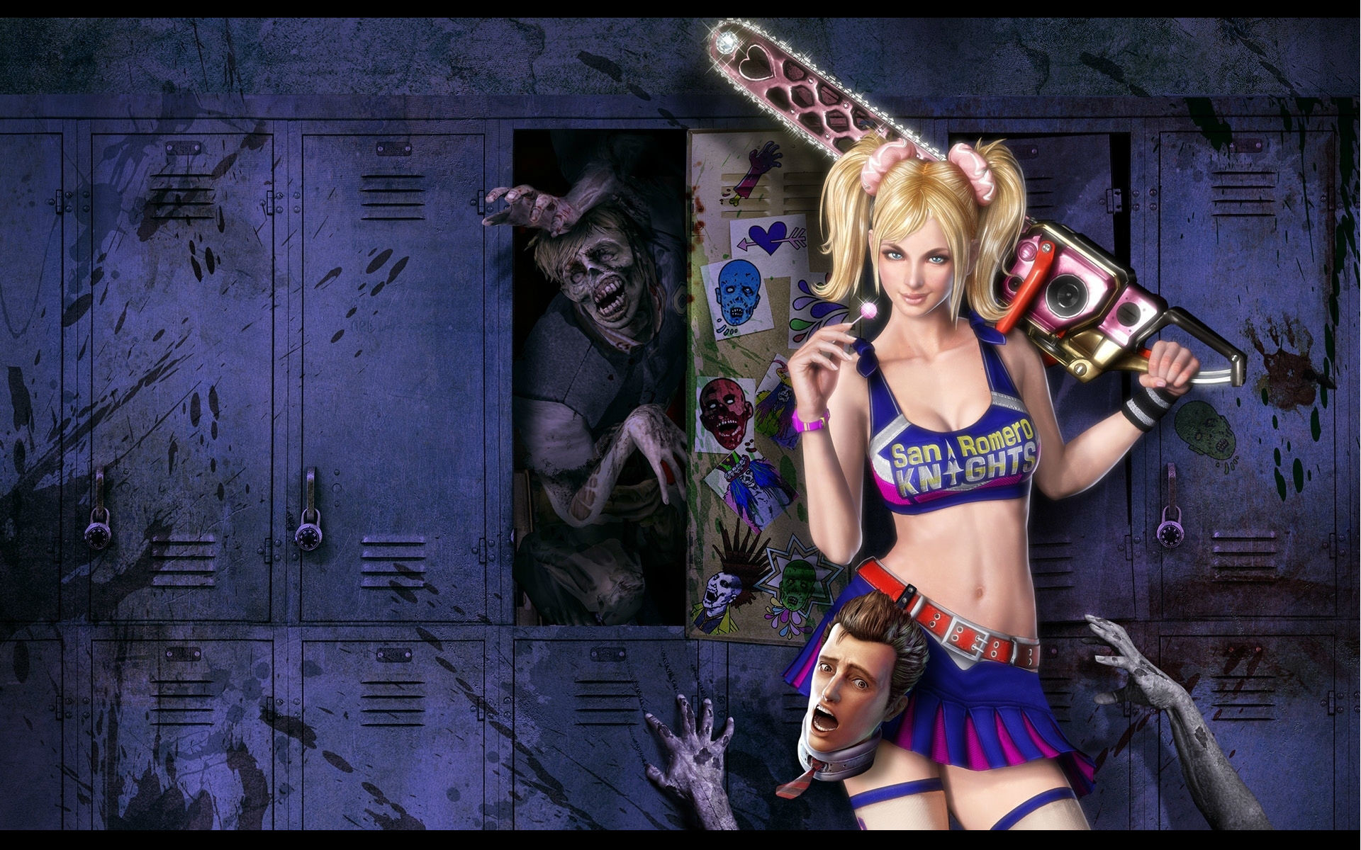 Res: 1920x1200, Lollipop Chainsaw Game Wallpaper