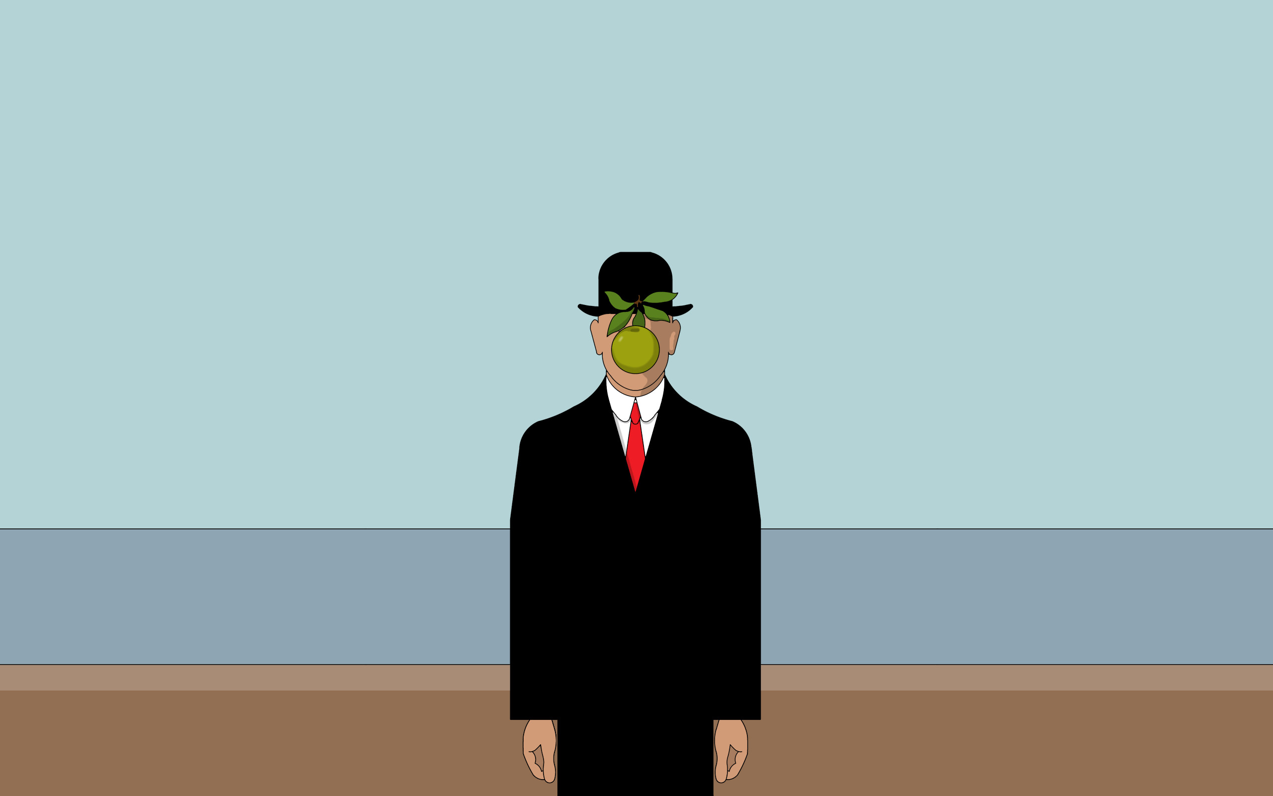 Res: 2560x1600,  Rene Magritte Painting desktop PC and Mac wallpaper