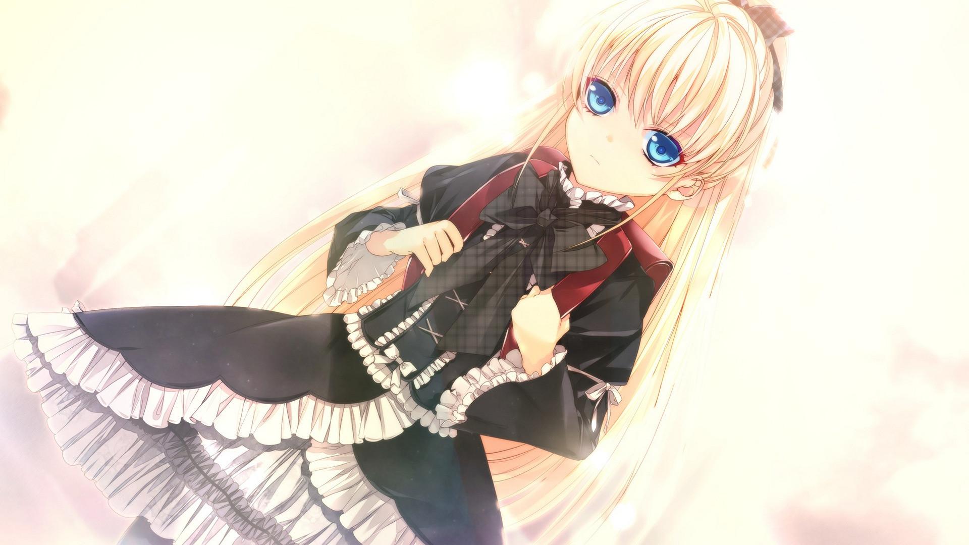 Res: 1920x1080, Anime - Negai no Kakera to Hakugin no Agreement Long Hair School Uniform  Skirt Blonde Ponytail