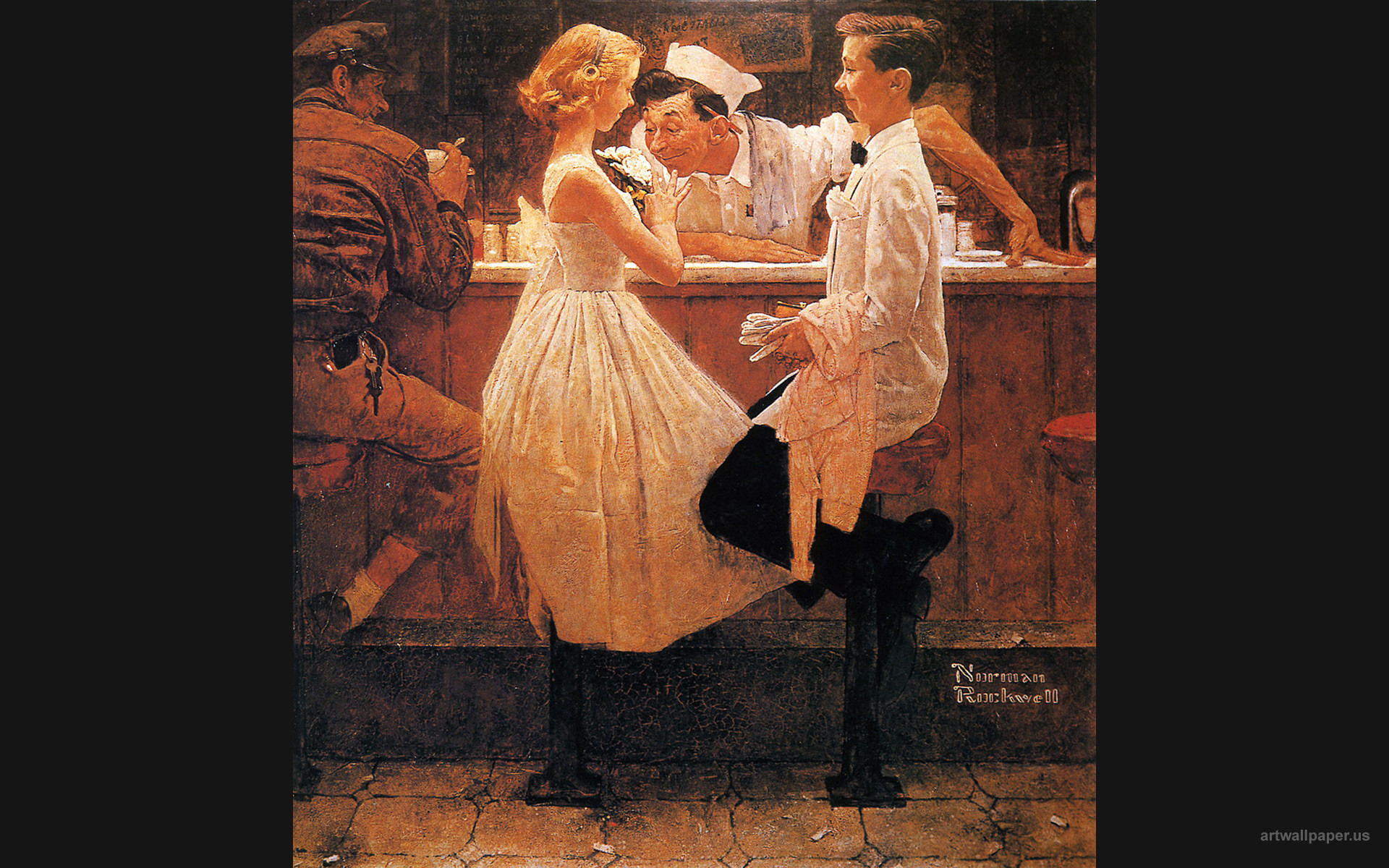 Res: 1920x1200, Wallpapers Norman Rockwell