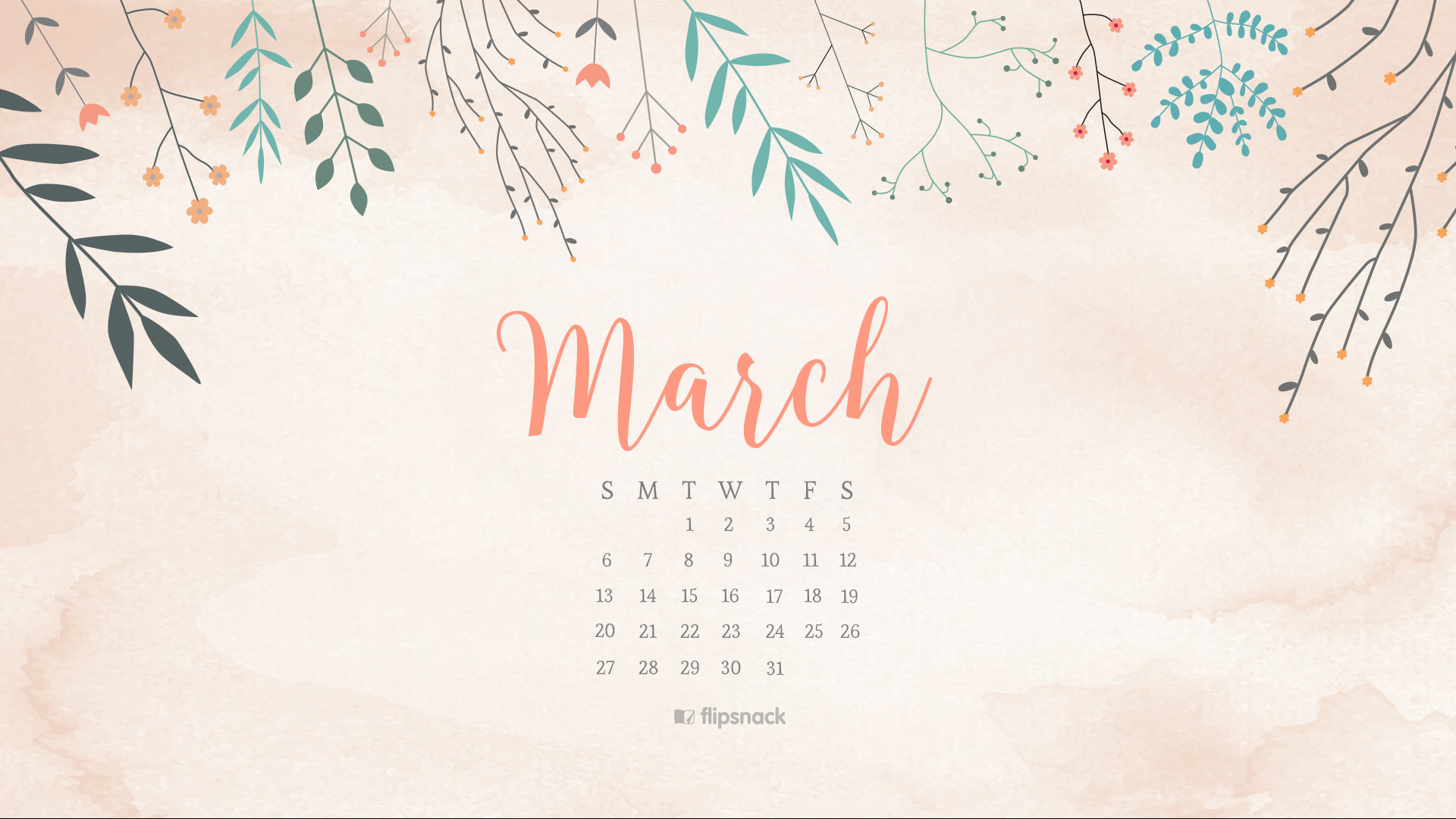 Res: 1920x1080, Free March Calendar Wallpapers Oh So Lovely Blog 1920×1080