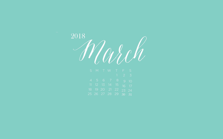 Res: 2880x1800, March 2018 Desktop Calendar Wallpaper