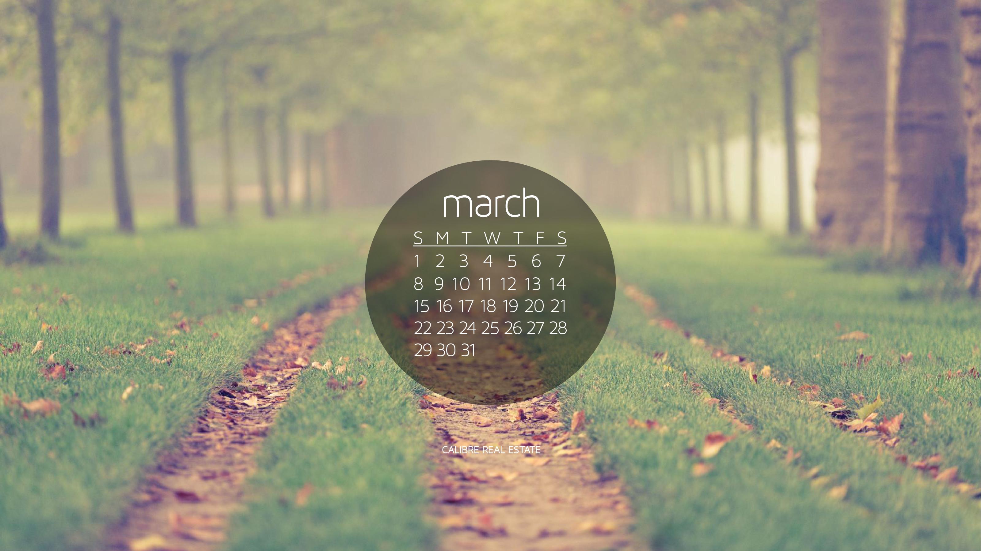 Res: 3201x1800, March 2015 Calendar Wallpaper for Desktop