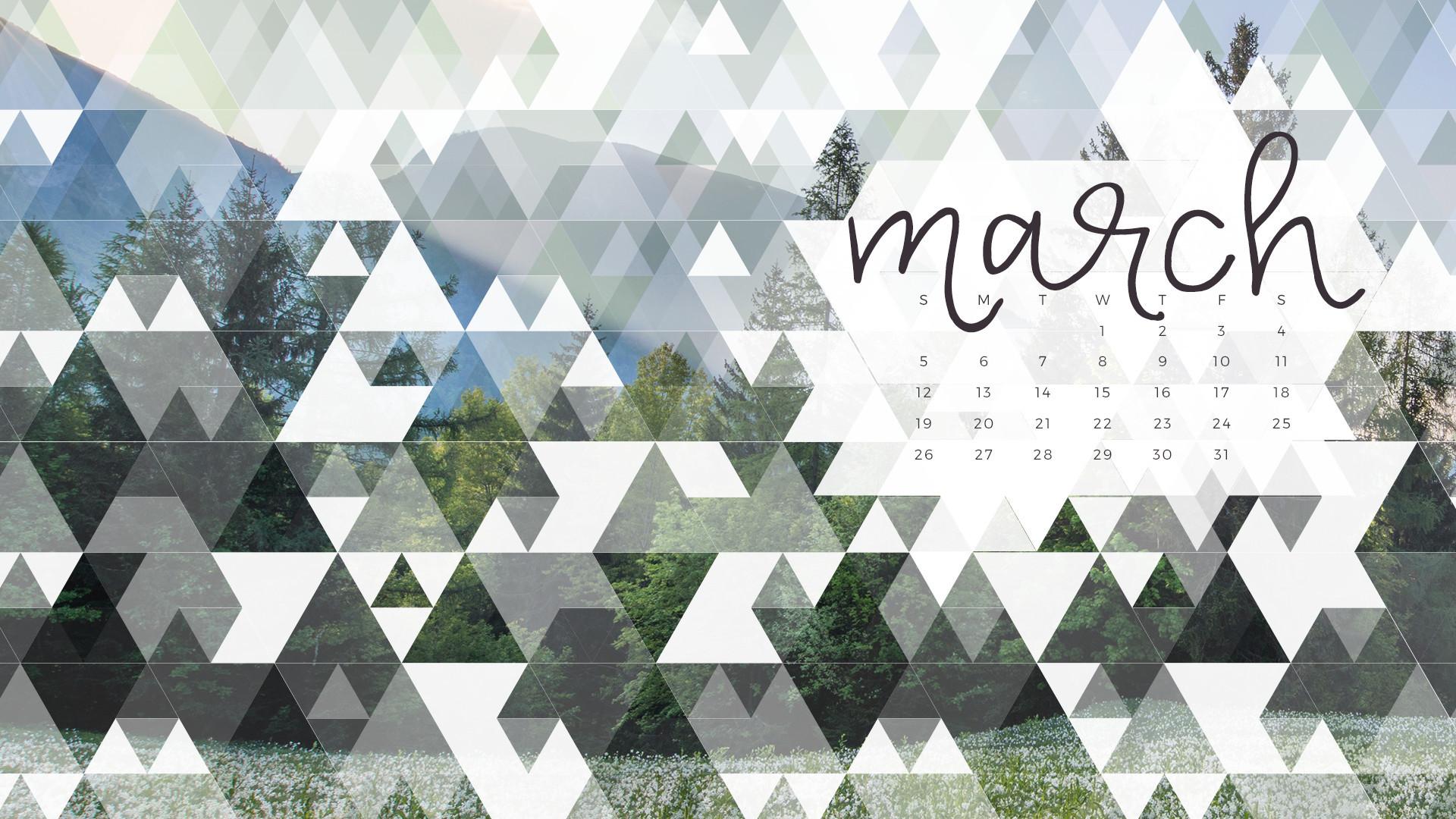 Res: 1920x1080, Free March 2017 Calendar Wallpaper