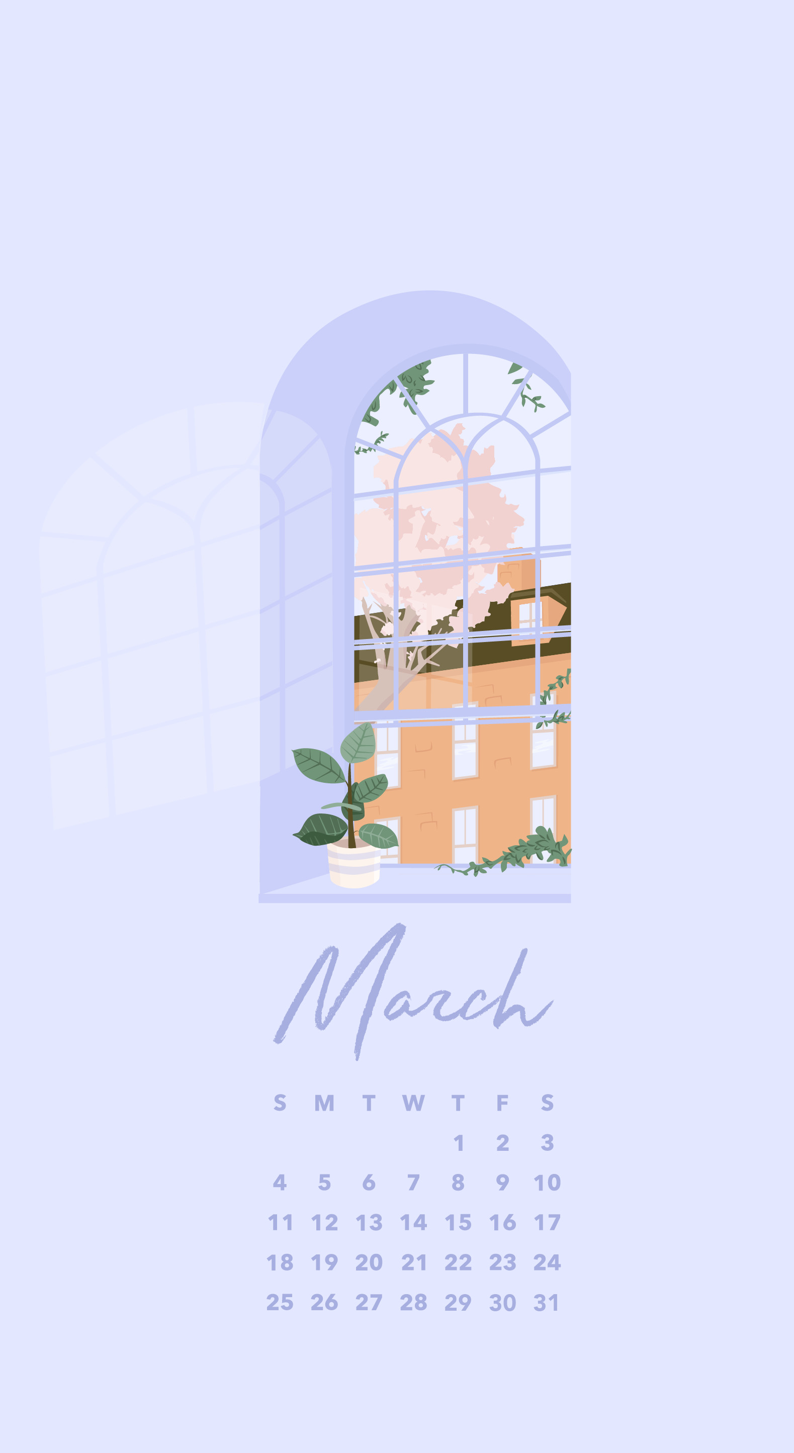 Res: 1579x2890, Download March Phone Wallpaper (With Calendar) Here