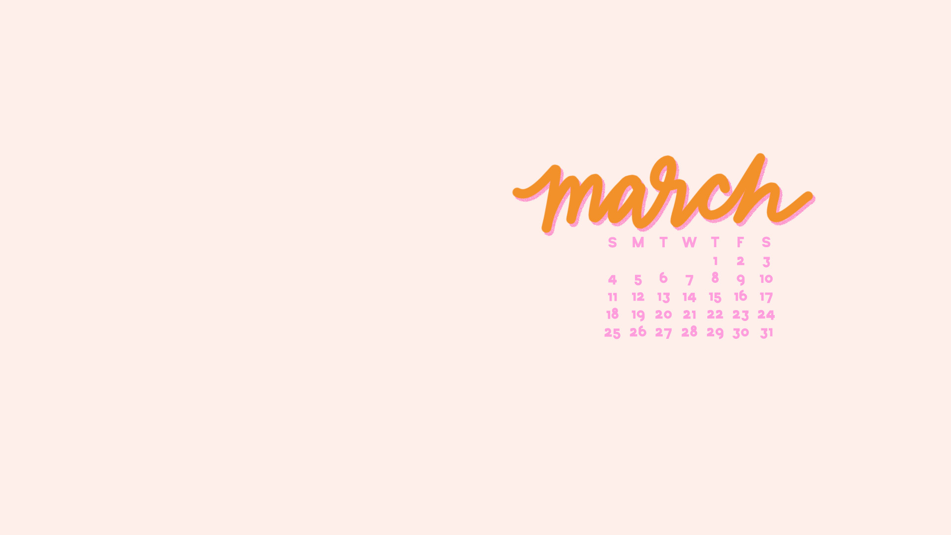 Res: 1920x1080, Check out the March 2018 Wallpapers and Folder Icons here! march calendar  khaki