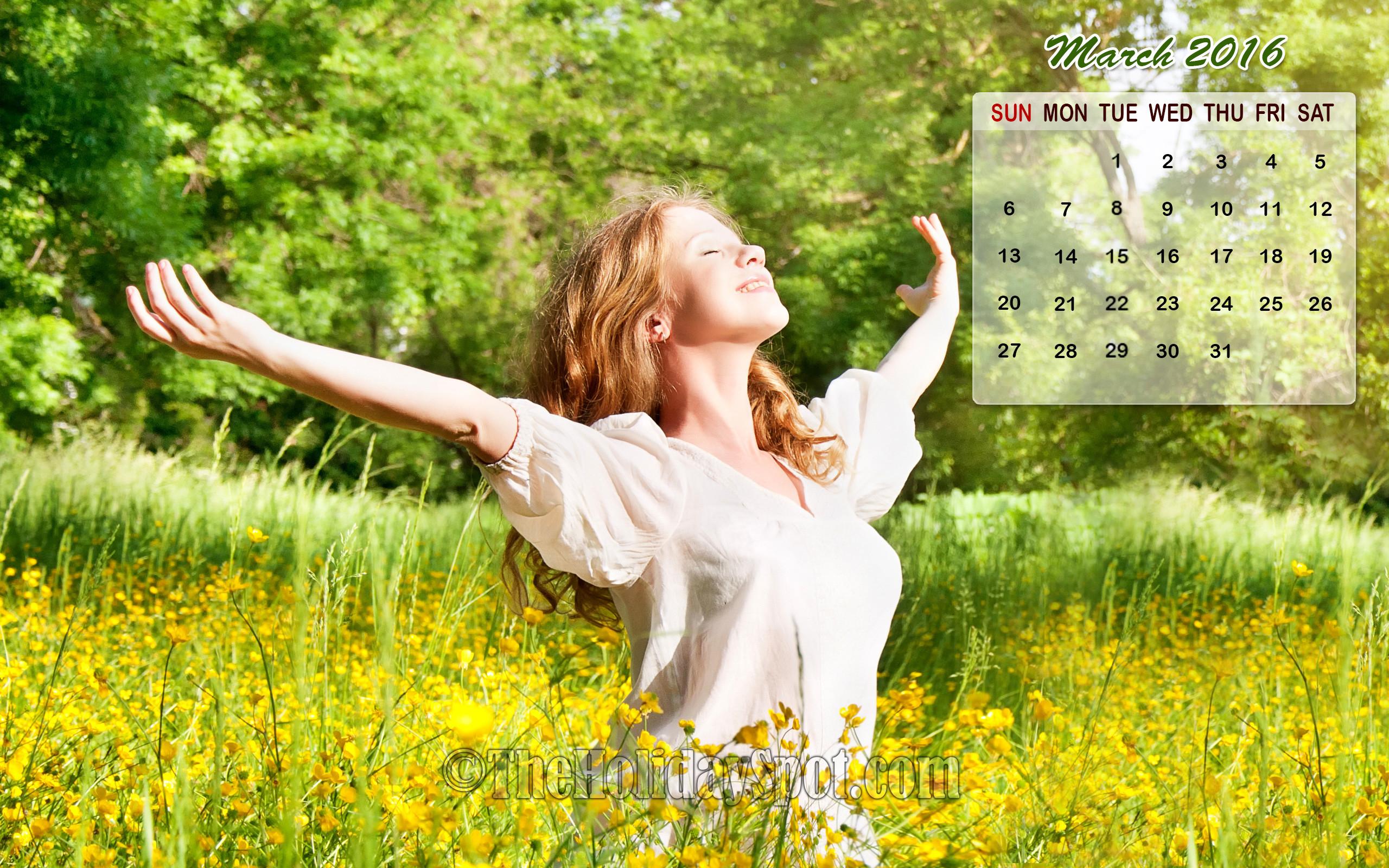 Res: 2560x1600, march calendar wallpaper 2016jpg