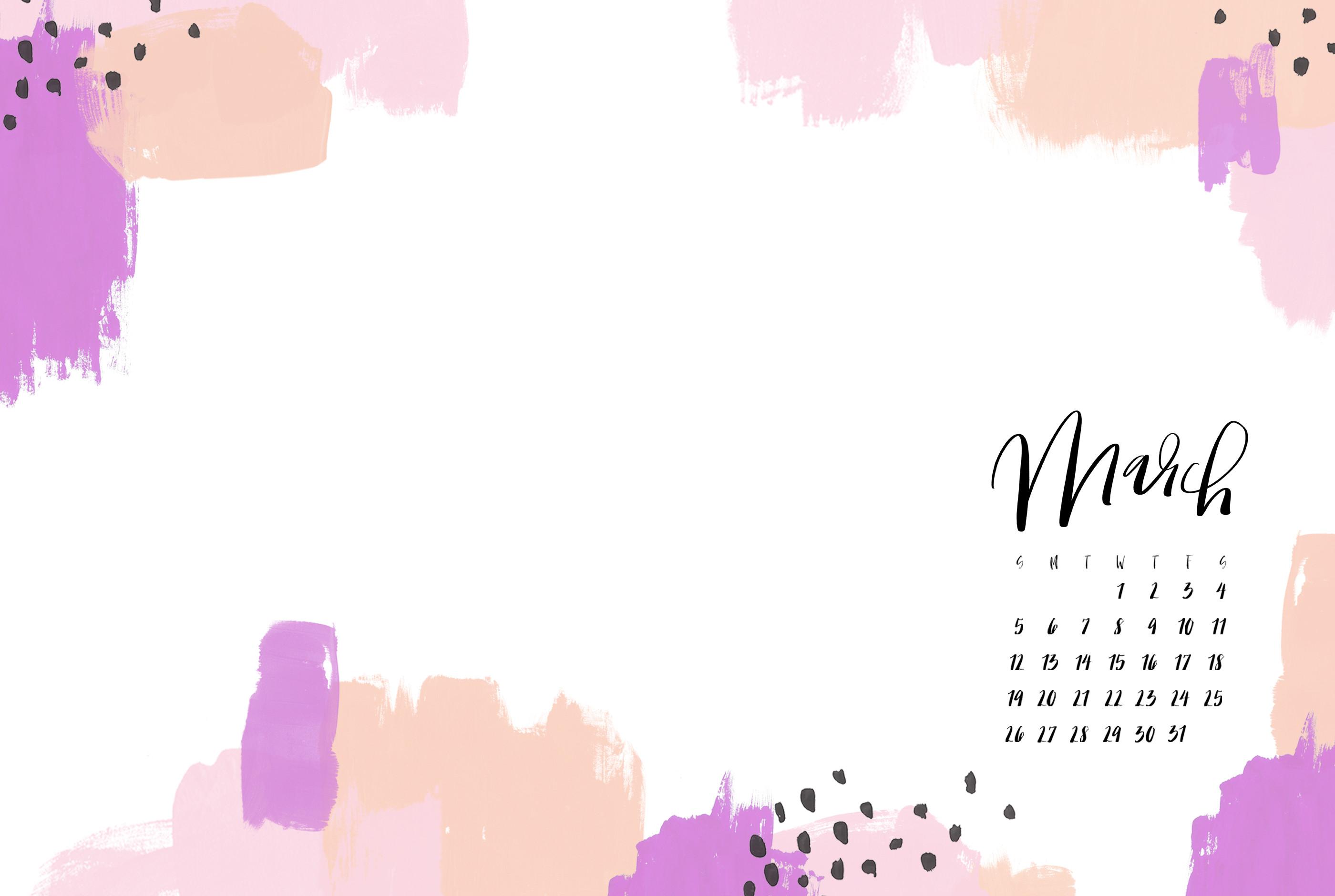 Res: 2800x1880, ... Desktop Calendar March 2017