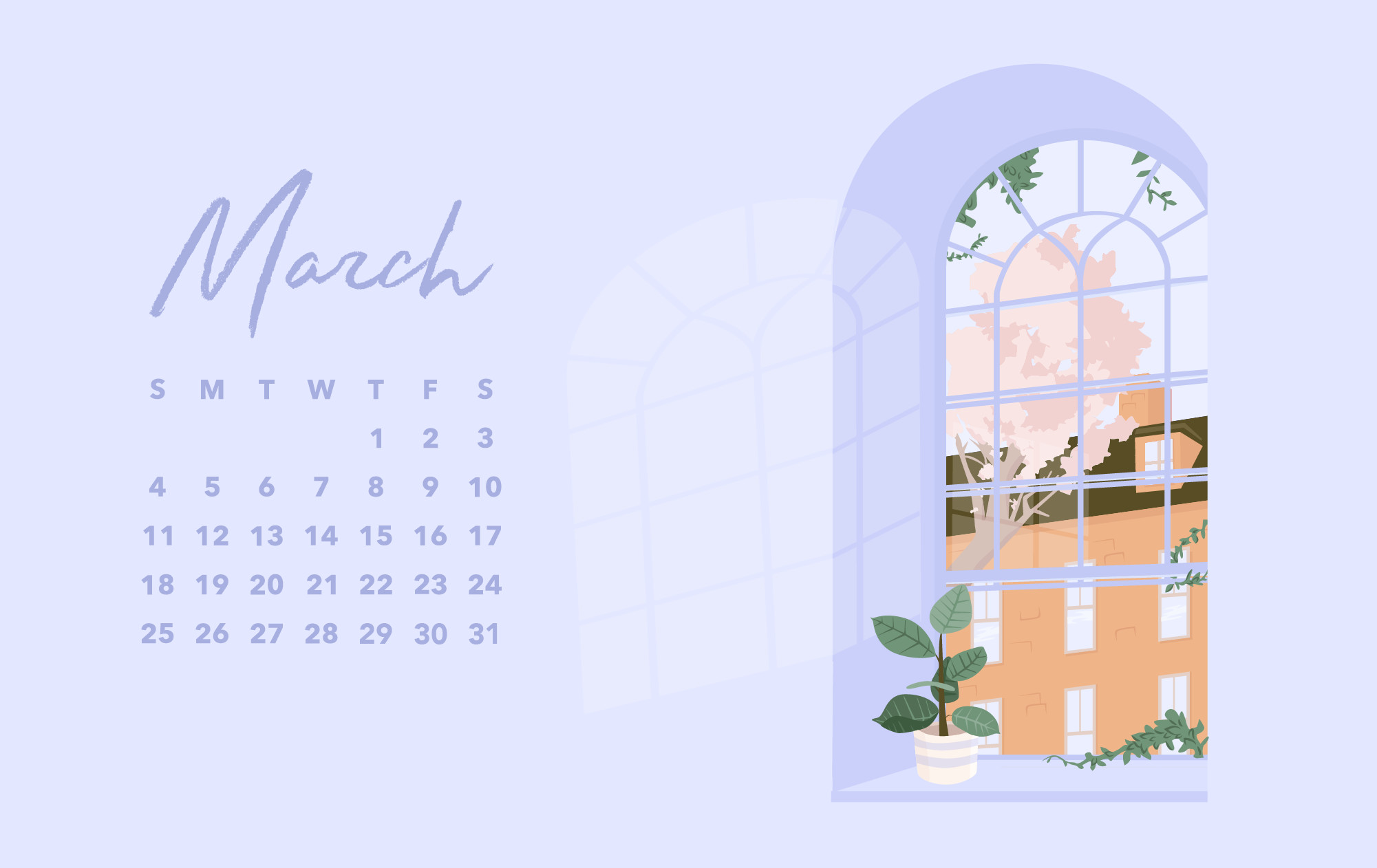 Res: 2001x1262, Download March Desktop Wallpaper (With Calendar) Here