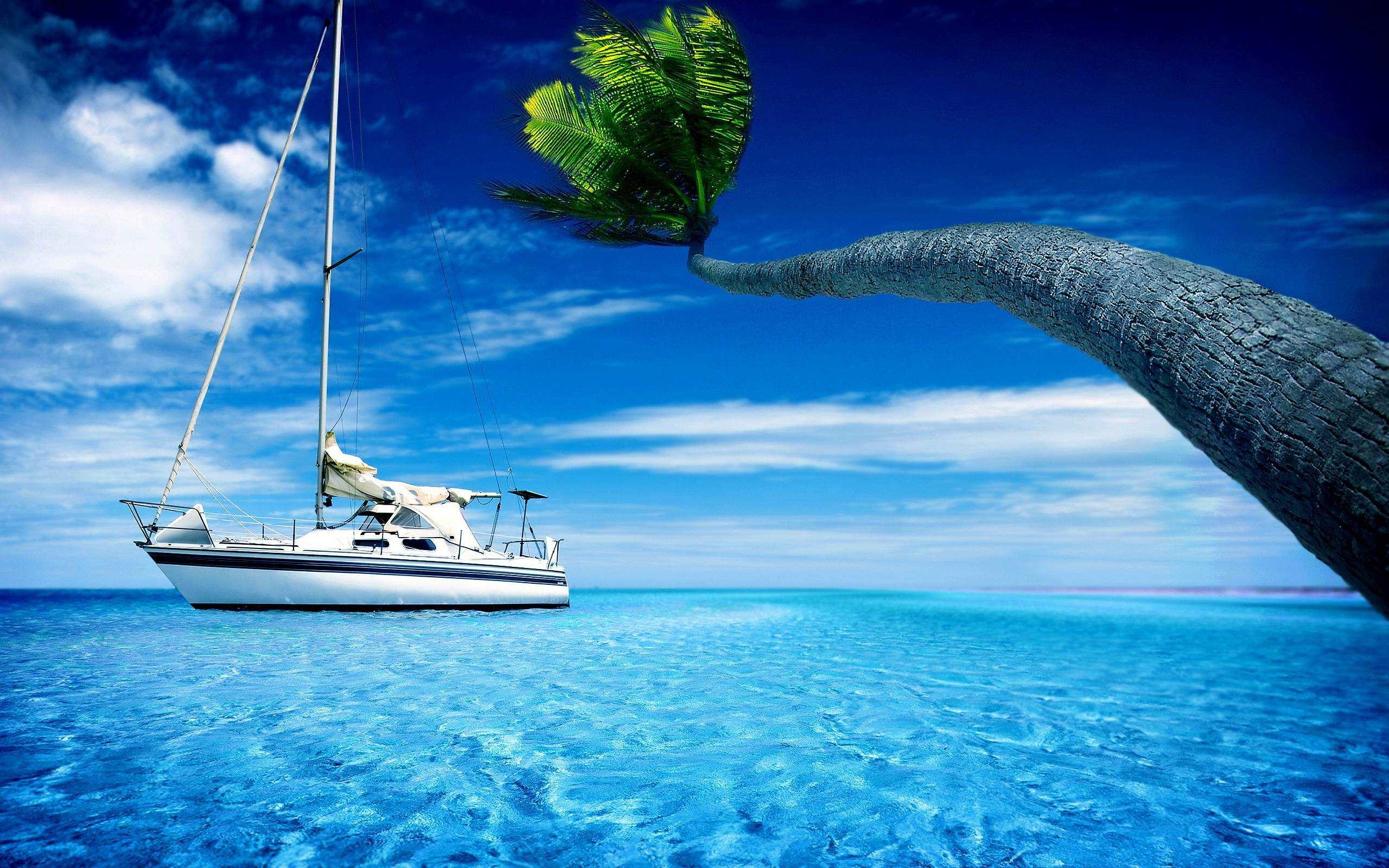 Res: 2560x1600, Nature Sea With Boat Wallpaper Hd Full Pics For Iphone Ocean Epic Car