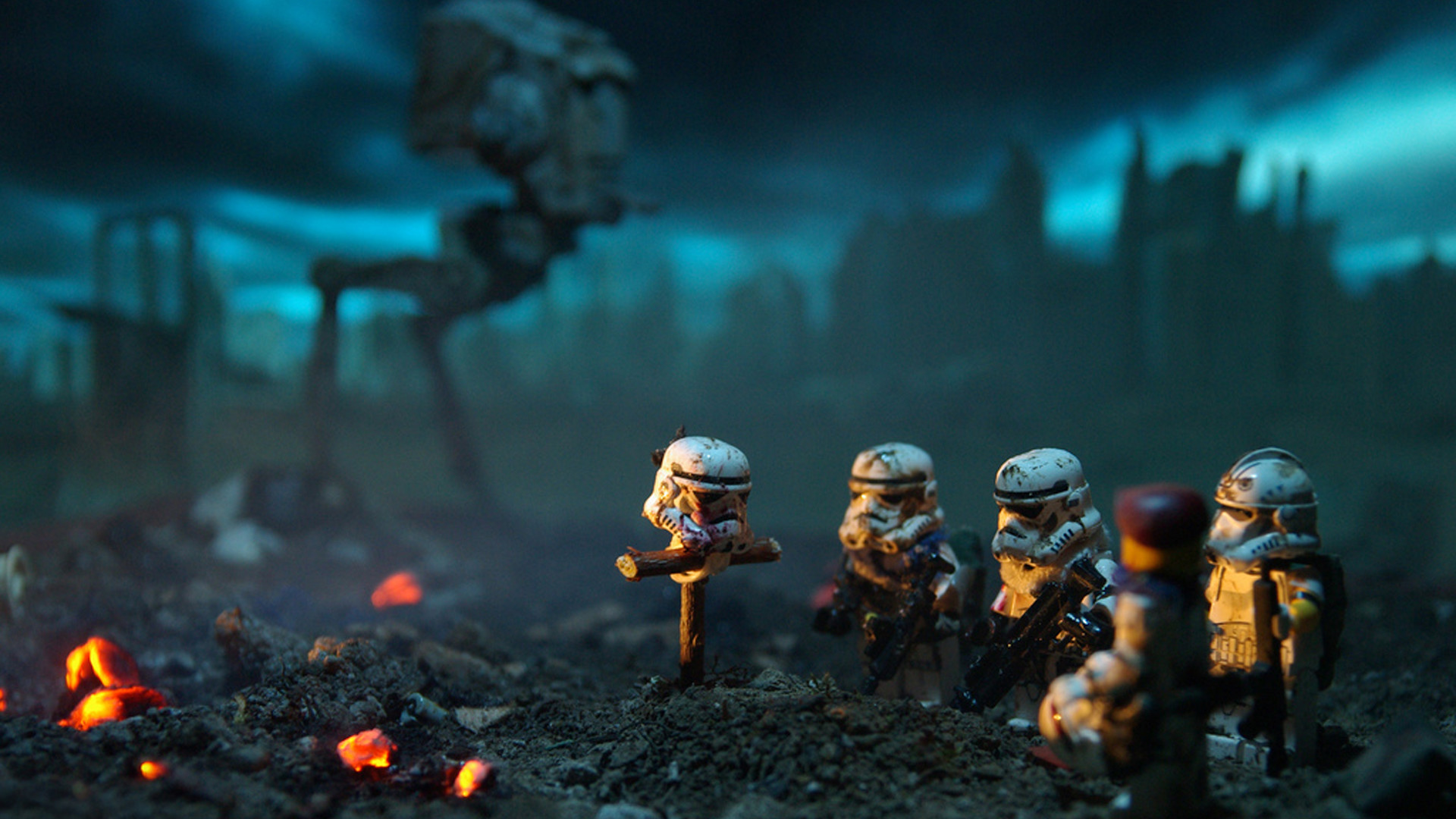 Res: 1920x1080, miniatures, Depth Of Field, Battlefield, LEGO, Star Wars, LEGO Star Wars, Stormtrooper  Wallpapers HD / Desktop and Mobile Backgrounds