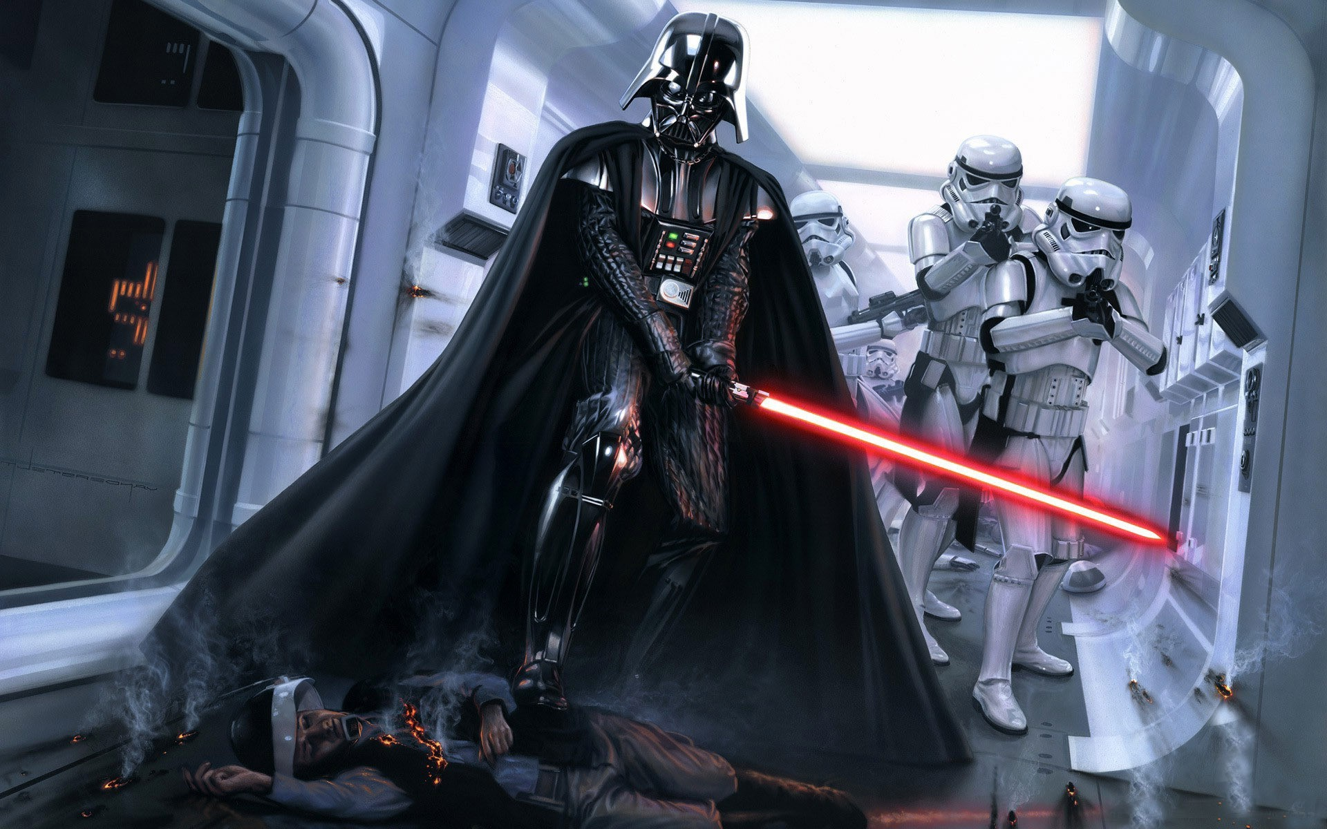 Res: 1920x1200, Stormtroopers Darth Vader wallpapers (2 Wallpapers)