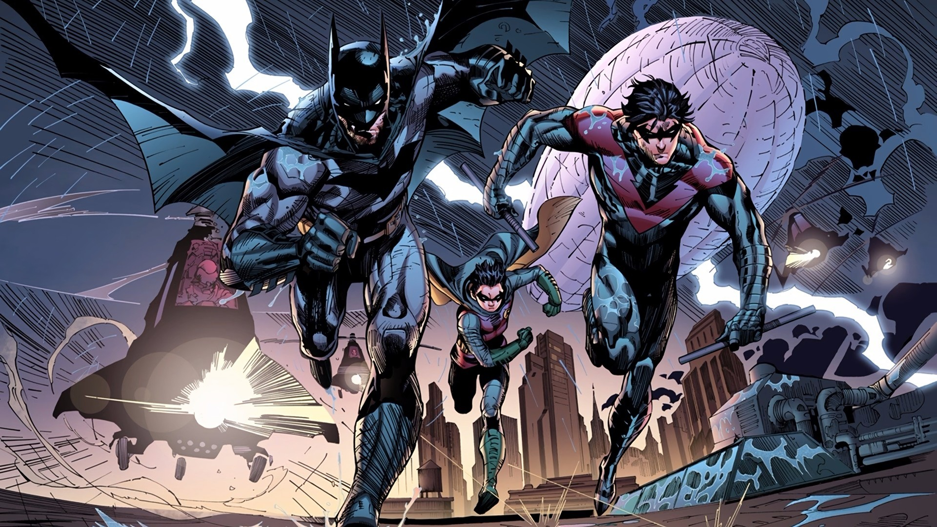 Res: 1920x1080, Comics - Batman Nightwing Robin (DC Comics) Wallpaper