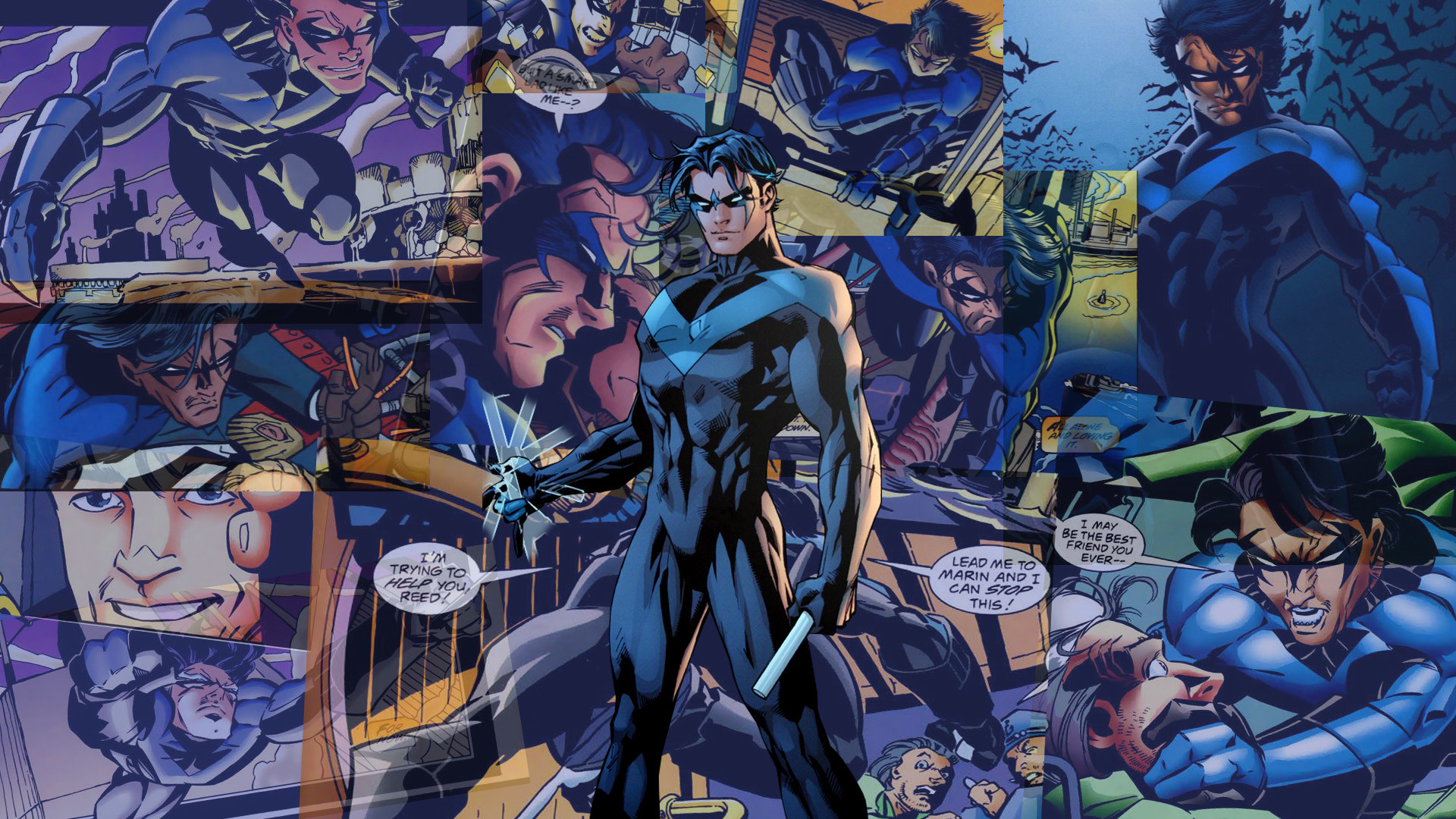 Res: 1920x1080, Pre New 52 Nightwing Wallpaper