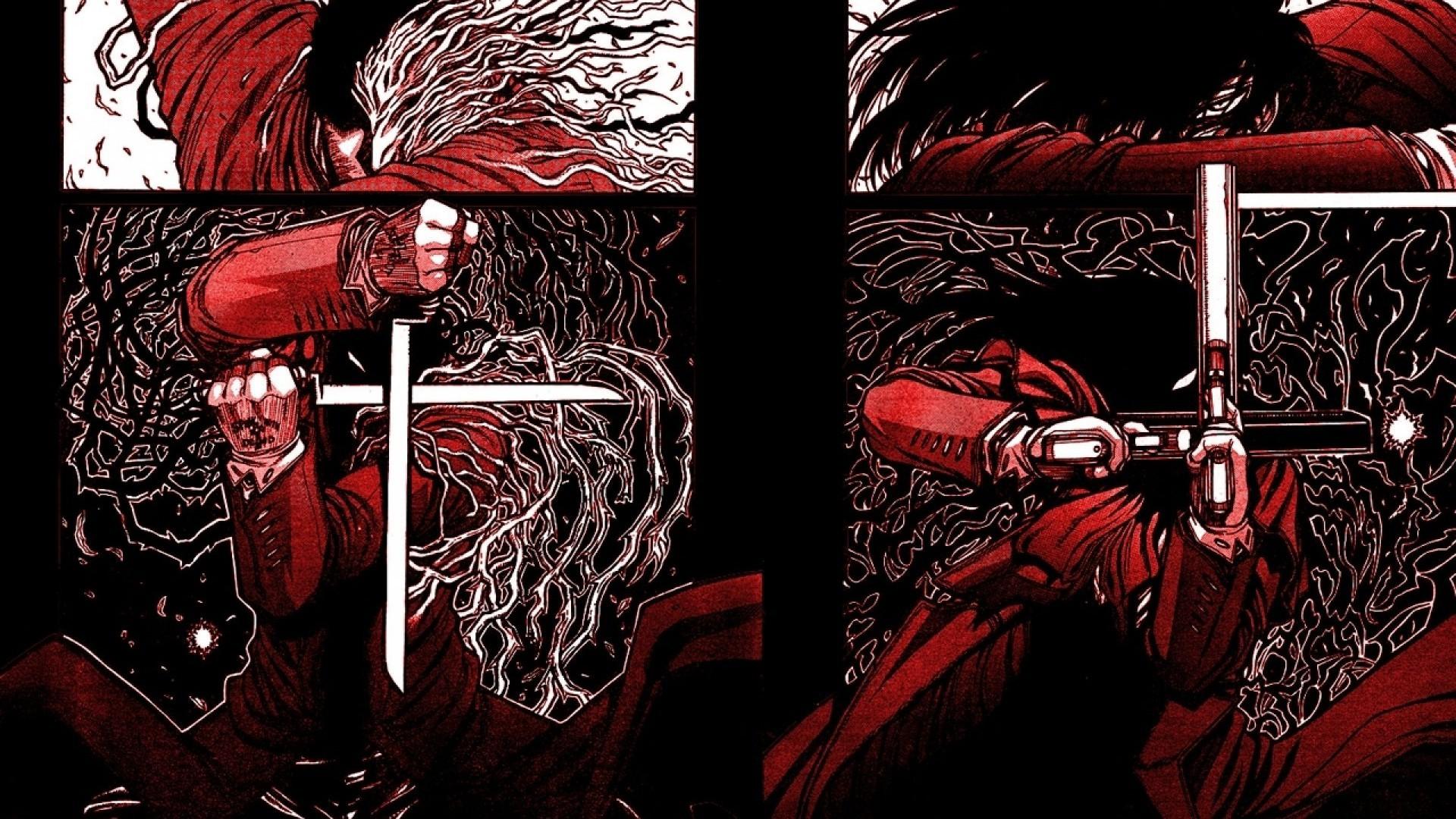 Res: 1920x1080, Hellsing Alucard Vampire alexander anderson 1280x1024 hintergrundbild