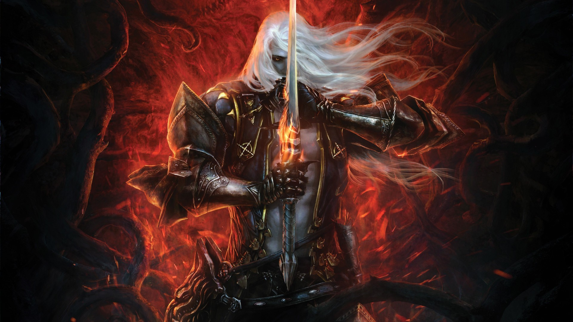 Res: 1920x1080, Alucard Wallpaper  Video Games Alucard Fantasy Art Armor  Castlevania Artwork on Alexander Anderson Wallpaper Images