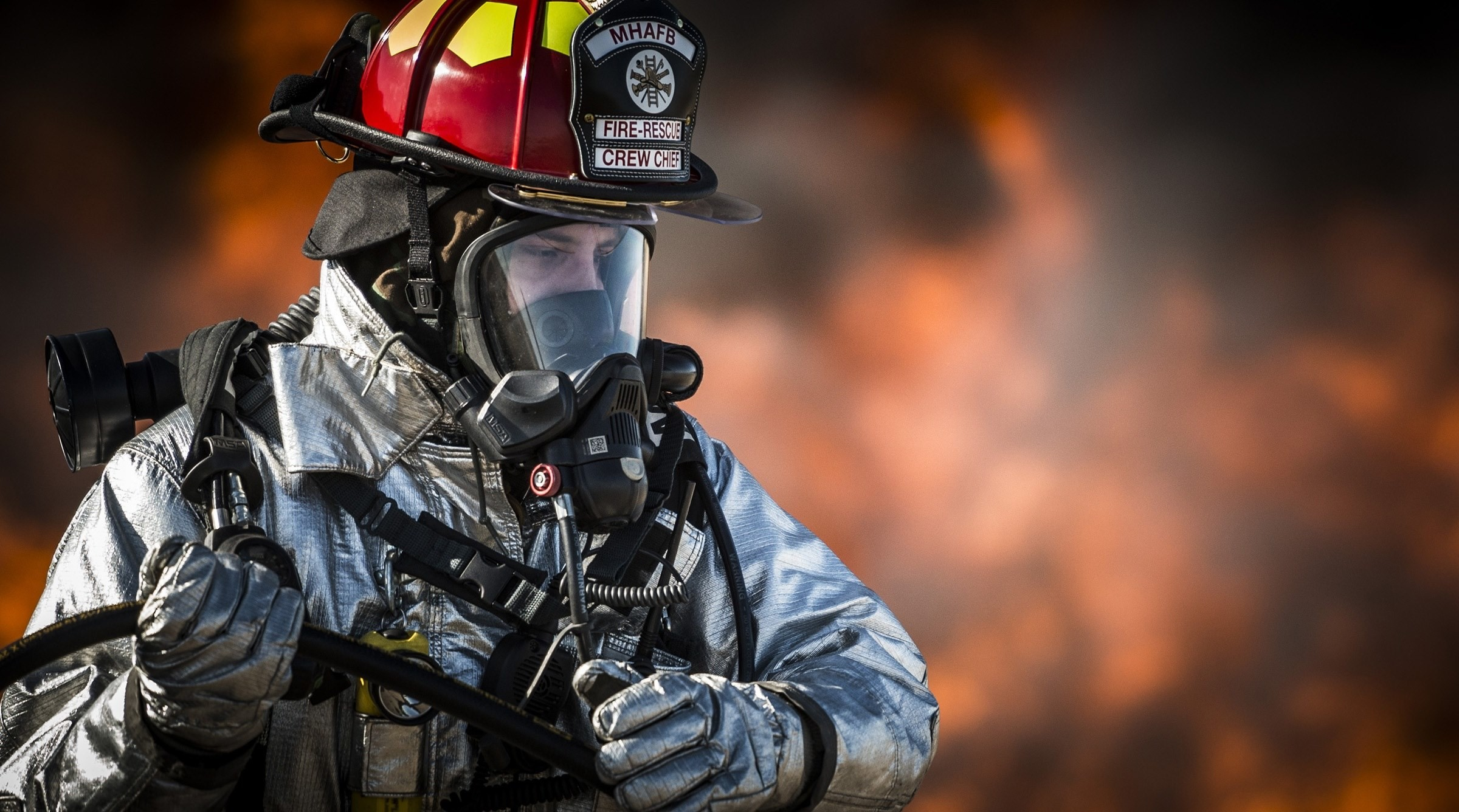 Res: 2400x1336, # #firefighter #fire #portrait #training #monitor #hot wallpaper  and background #106662