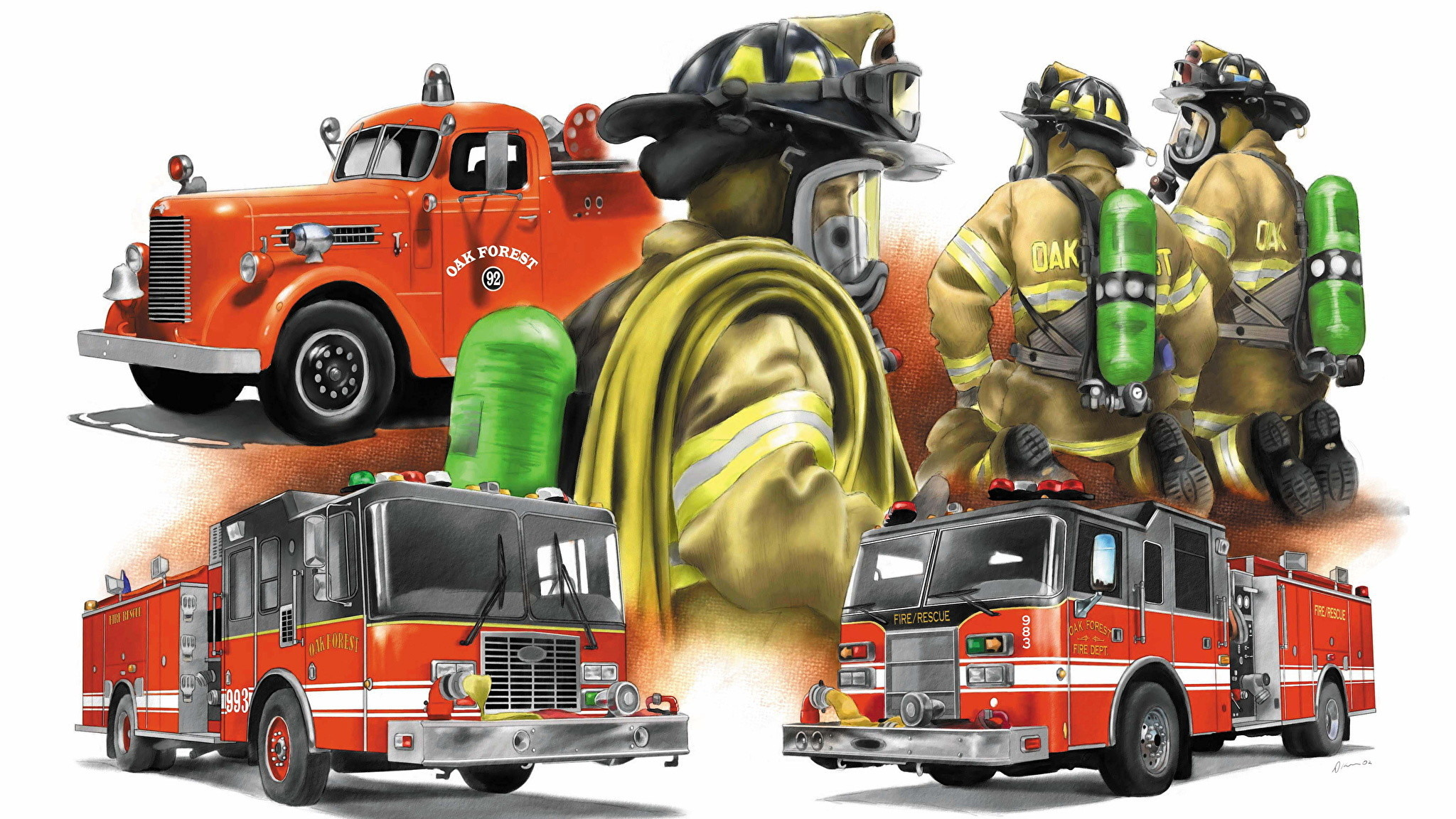 Res: 2048x1152, ... Fire Department Desktop Wallpaper