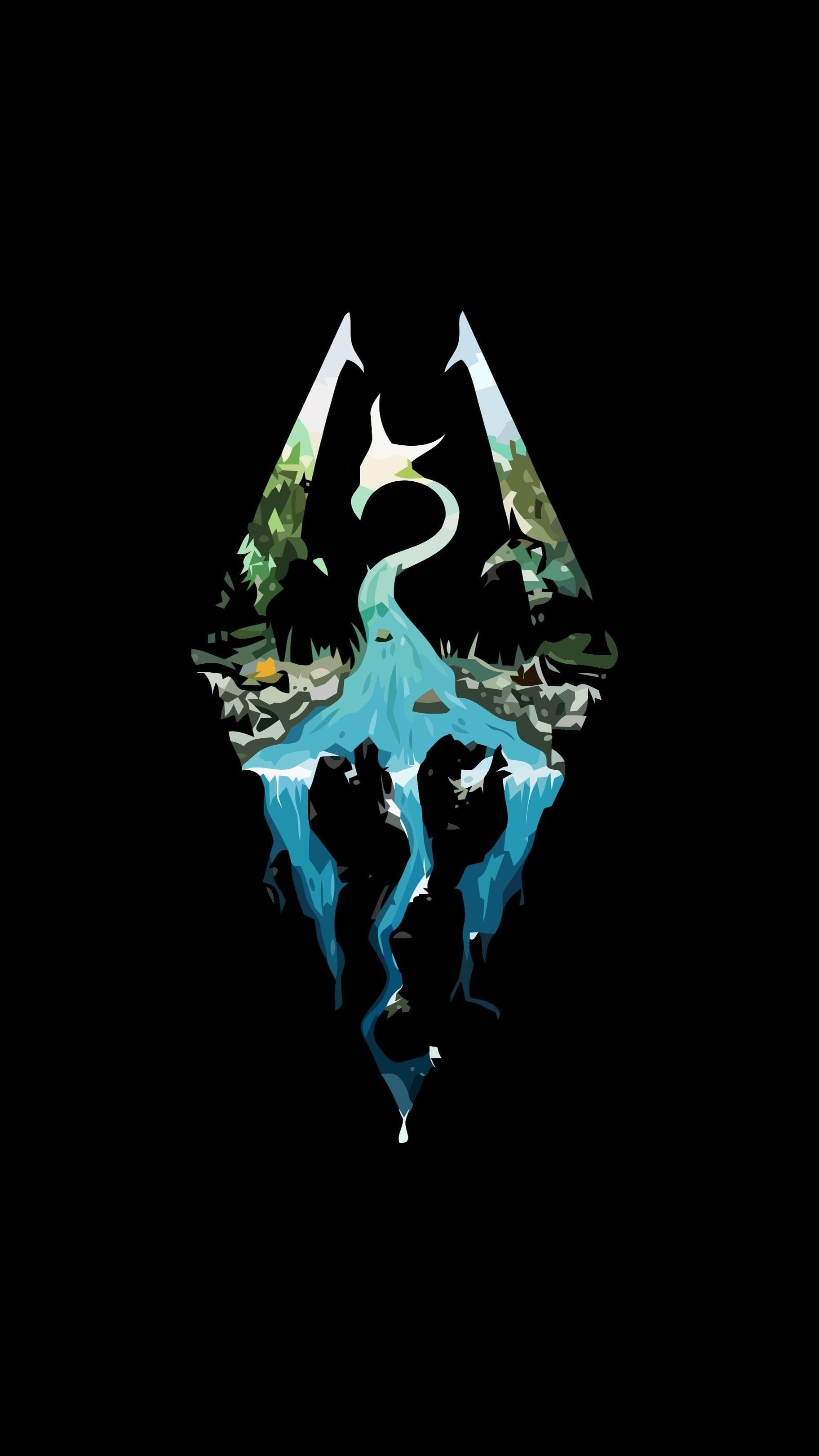 Res: 1823x3240, Phone wallpaper Skyrim logo #games #Skyrim #elderscrolls #BE3 #gaming  #videogames #Concours #NGC