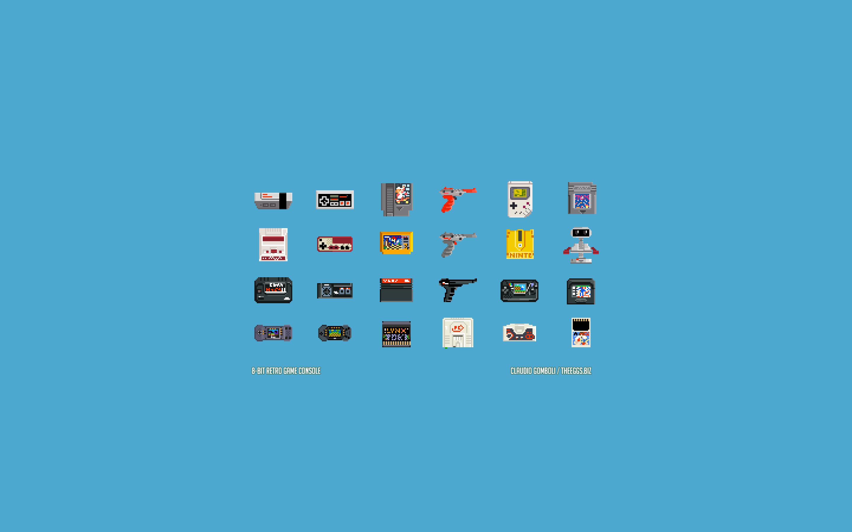 Res: 2880x1800, 8-Bit Retro Game Console