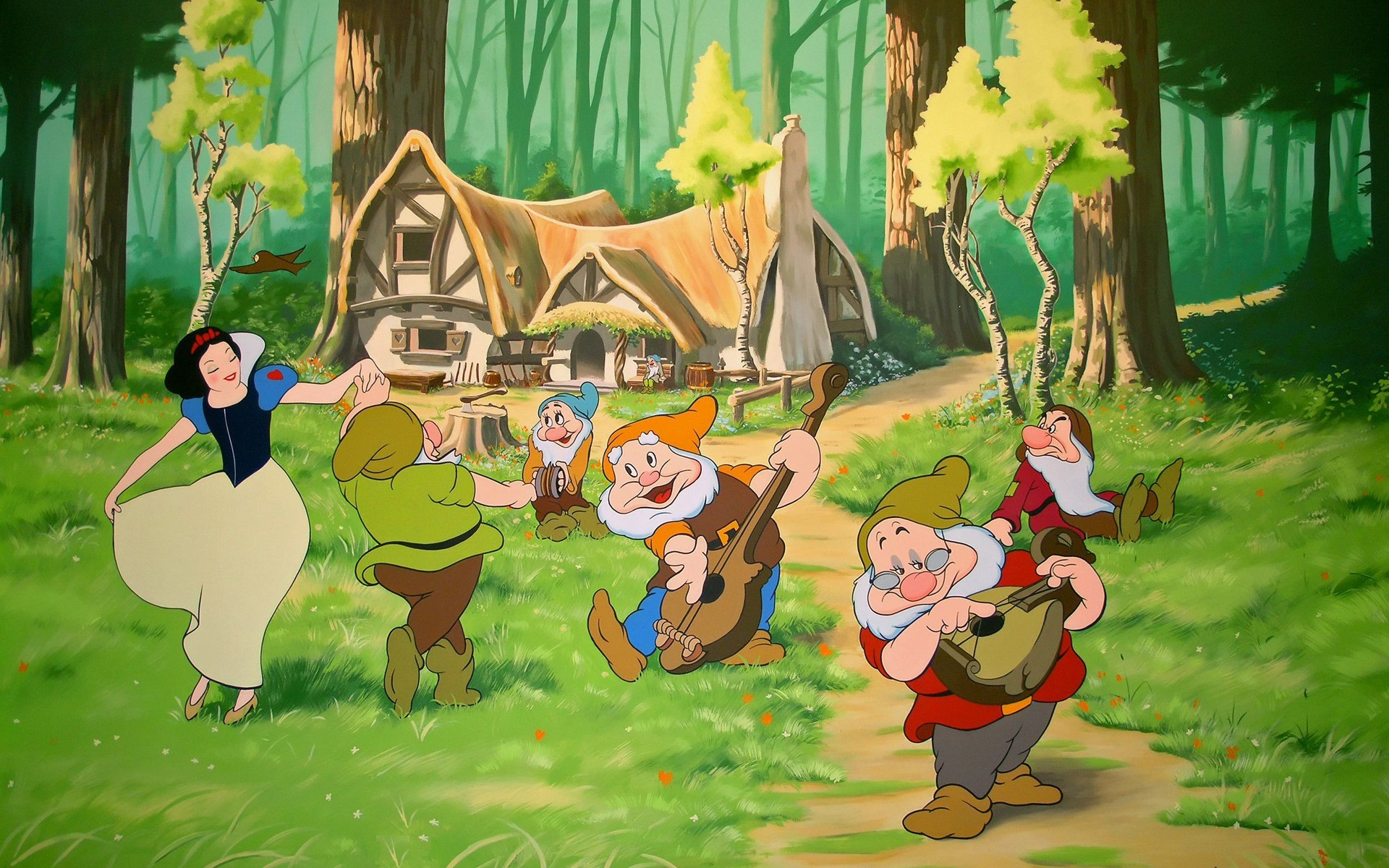 Res: 1920x1200, Snow White and the Seven Dwarfs Wallpaper Cartoons Anime Animated Wallpapers