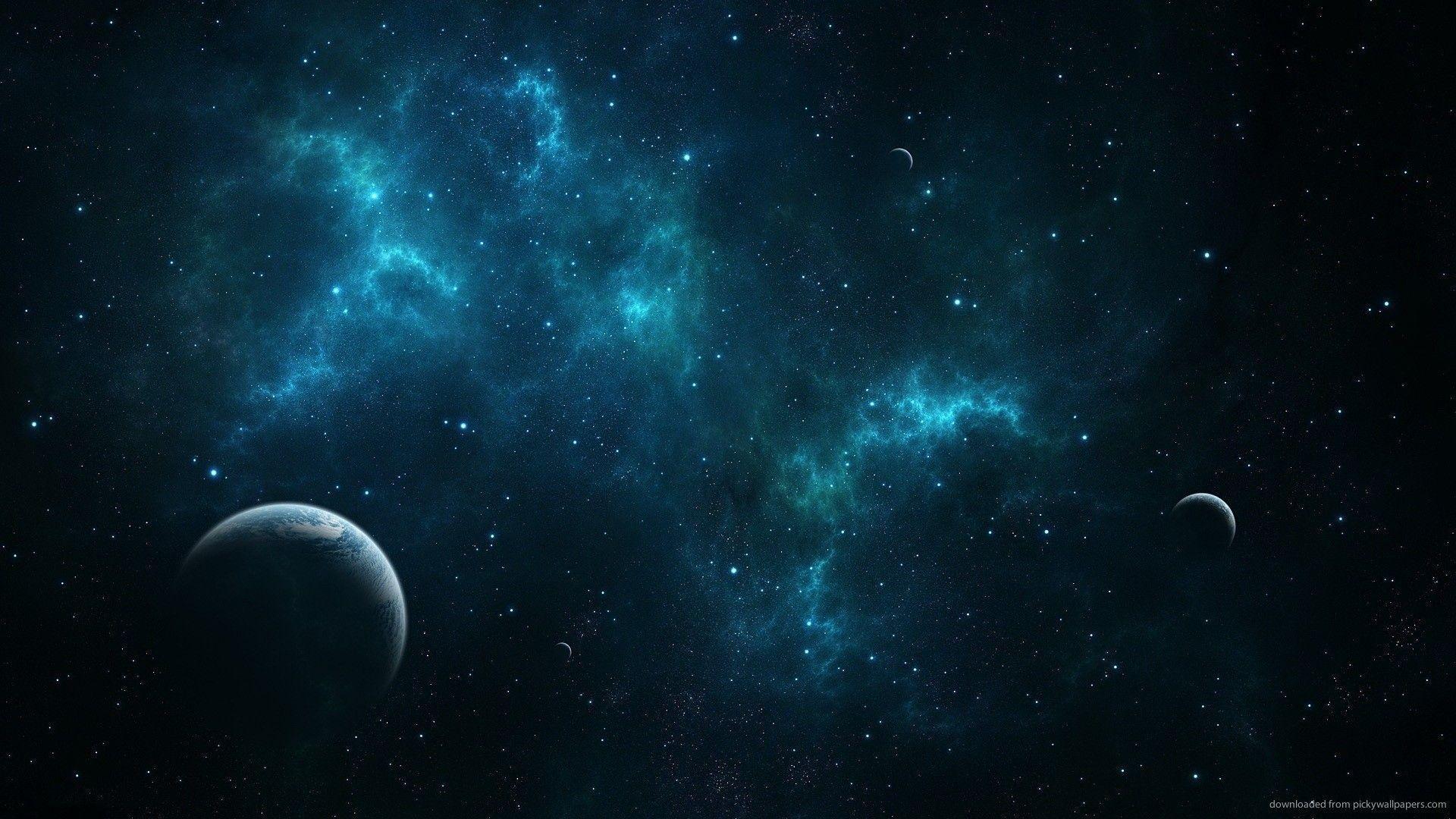 Res: 1920x1080, HD Deep Blue Space Wallpaper