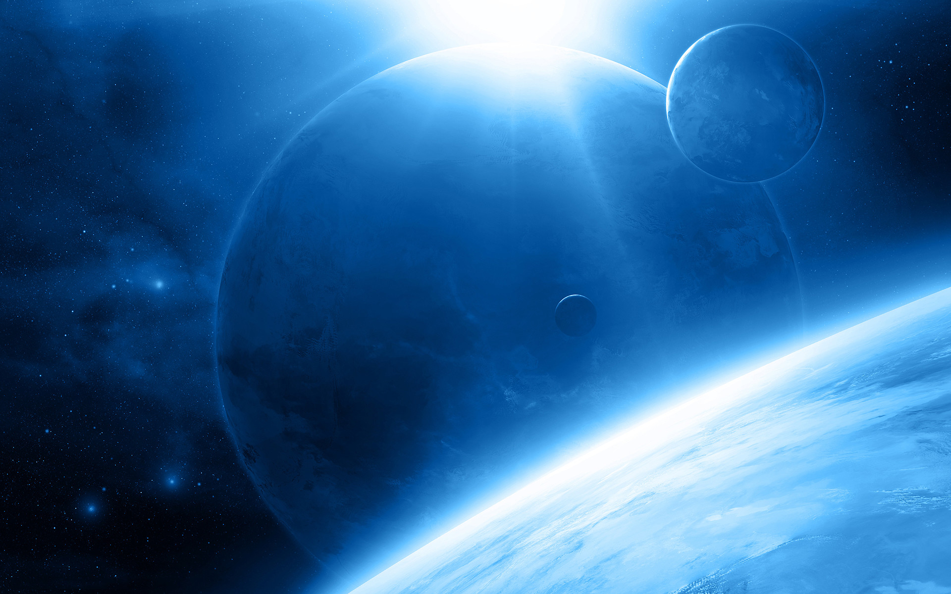 Res: 1920x1200, Free Blue Space Wallpaper 32330