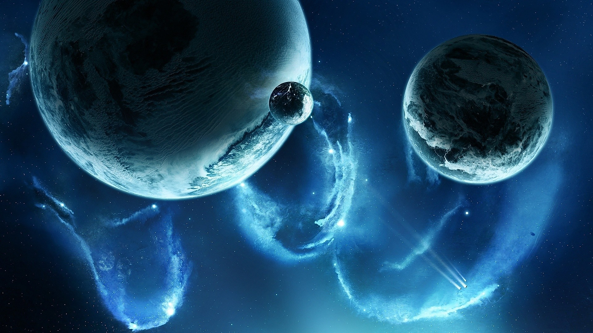 Res: 1920x1080, Cool Blue Space Wallpaper 32327