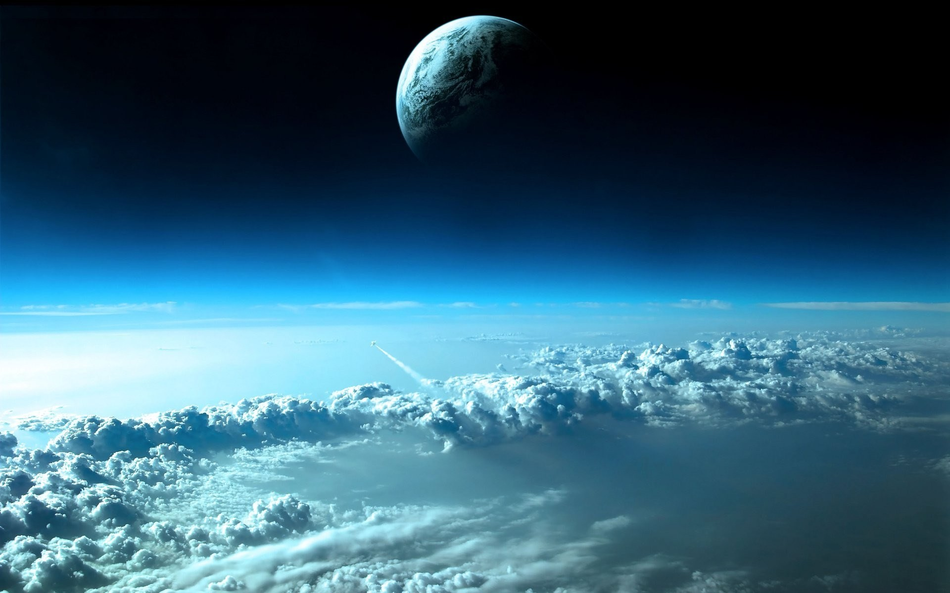 Res: 1920x1200, Clouds Outer Space Planets Earth Wallpaper  340x220