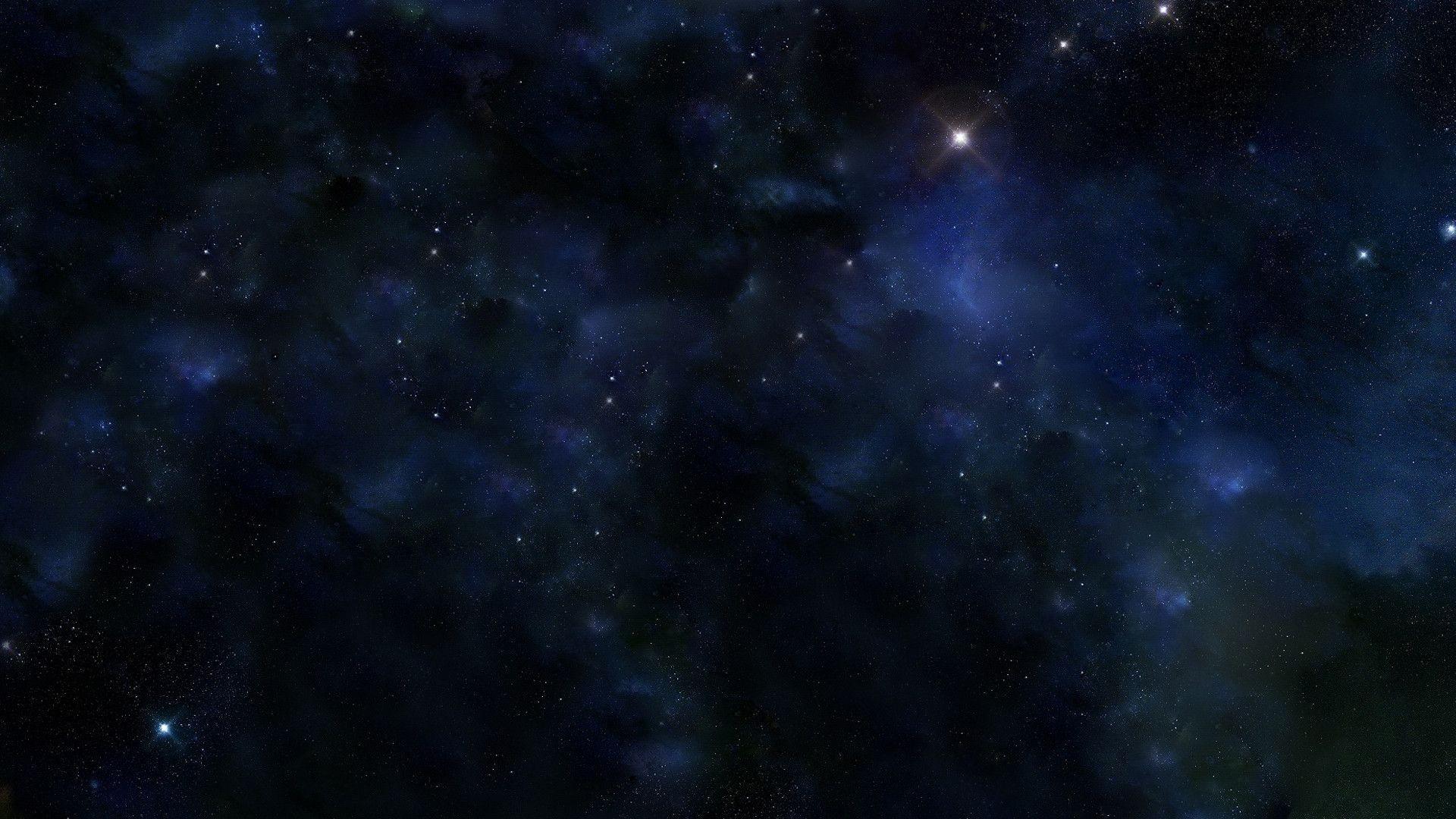 Res: 1920x1080, Blue Space Hintergrund 64+