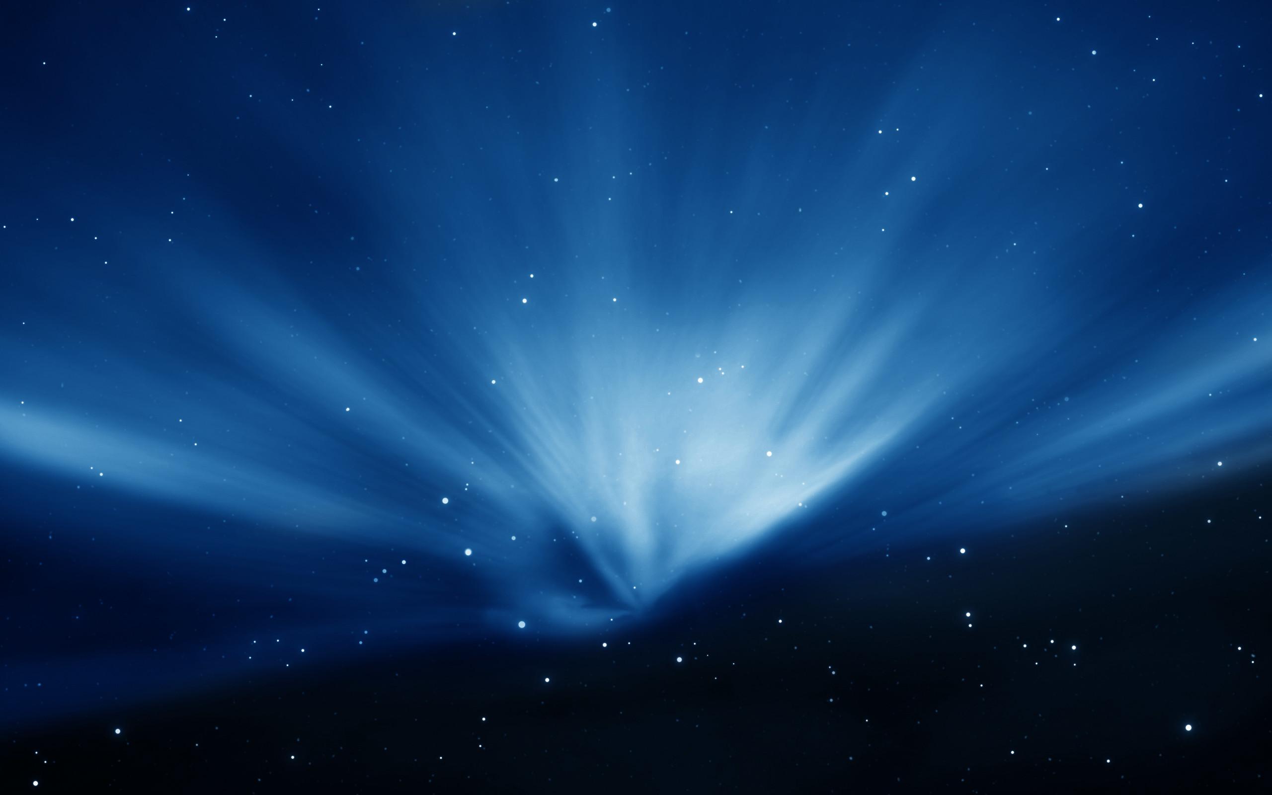 Res: 2560x1600, Apple Sky Blue Aurora Wallpaper