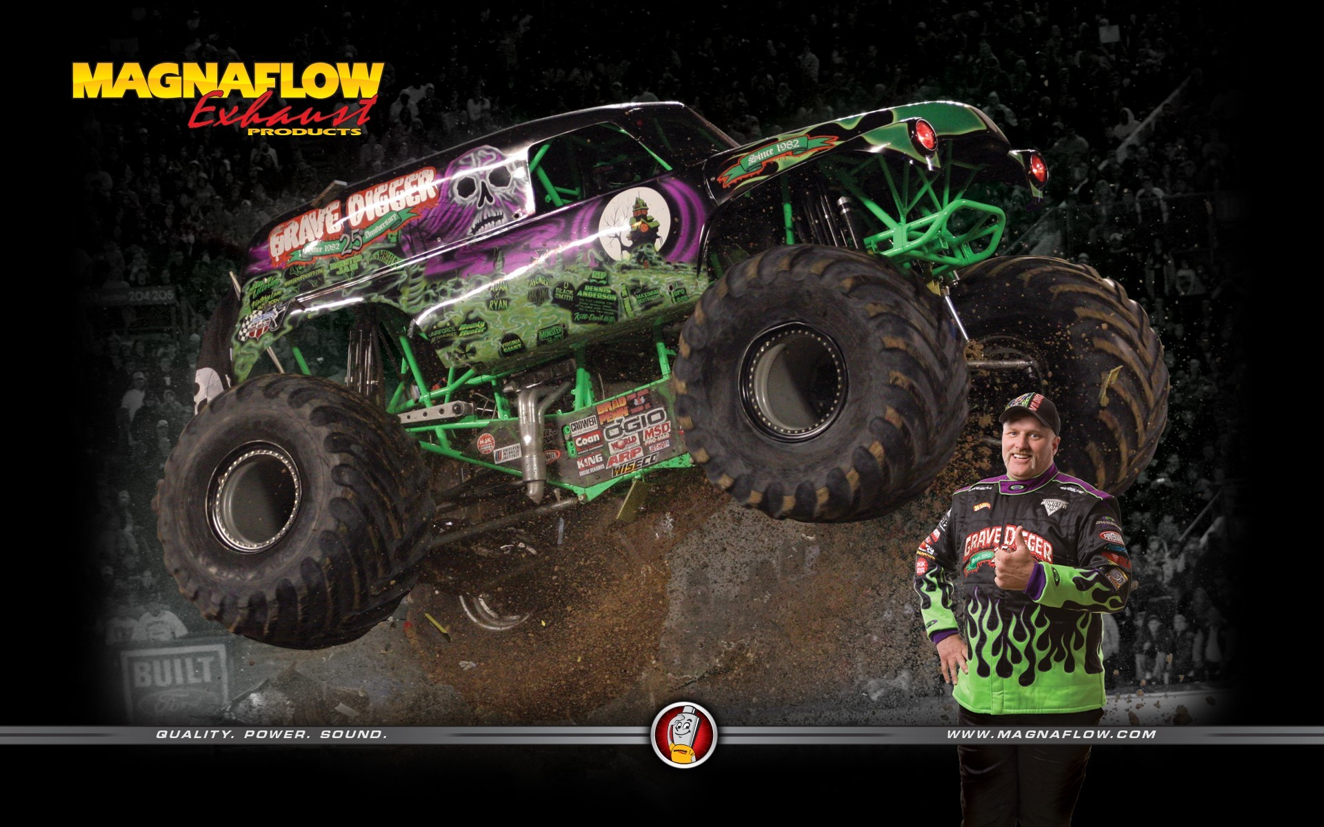 Res: 1920x1200, Vehicles - Monster Truck Truck Car Vehicle Dennis Anderson Grave Digger ( Truck) Wallpaper