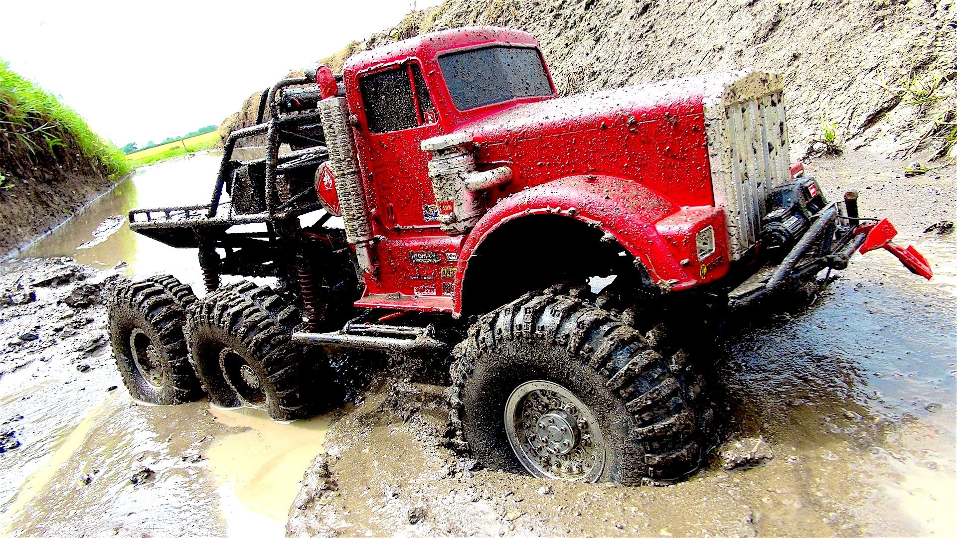 Res: 1920x1080, Big Red 6x6 Off Road Mud Action By Insane Rc Truck Will Blow You