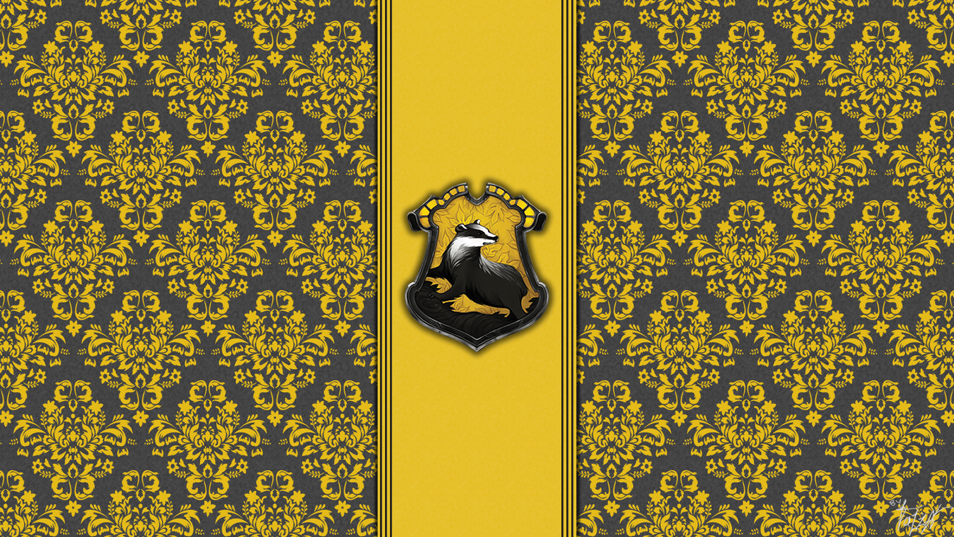 Res: 1920x1080,  House hufflepuff wallpaper hogwarts paper art theladyavatar |  Harry Potter | Pinterest | Colors, Paper and Desktop wallpapers
