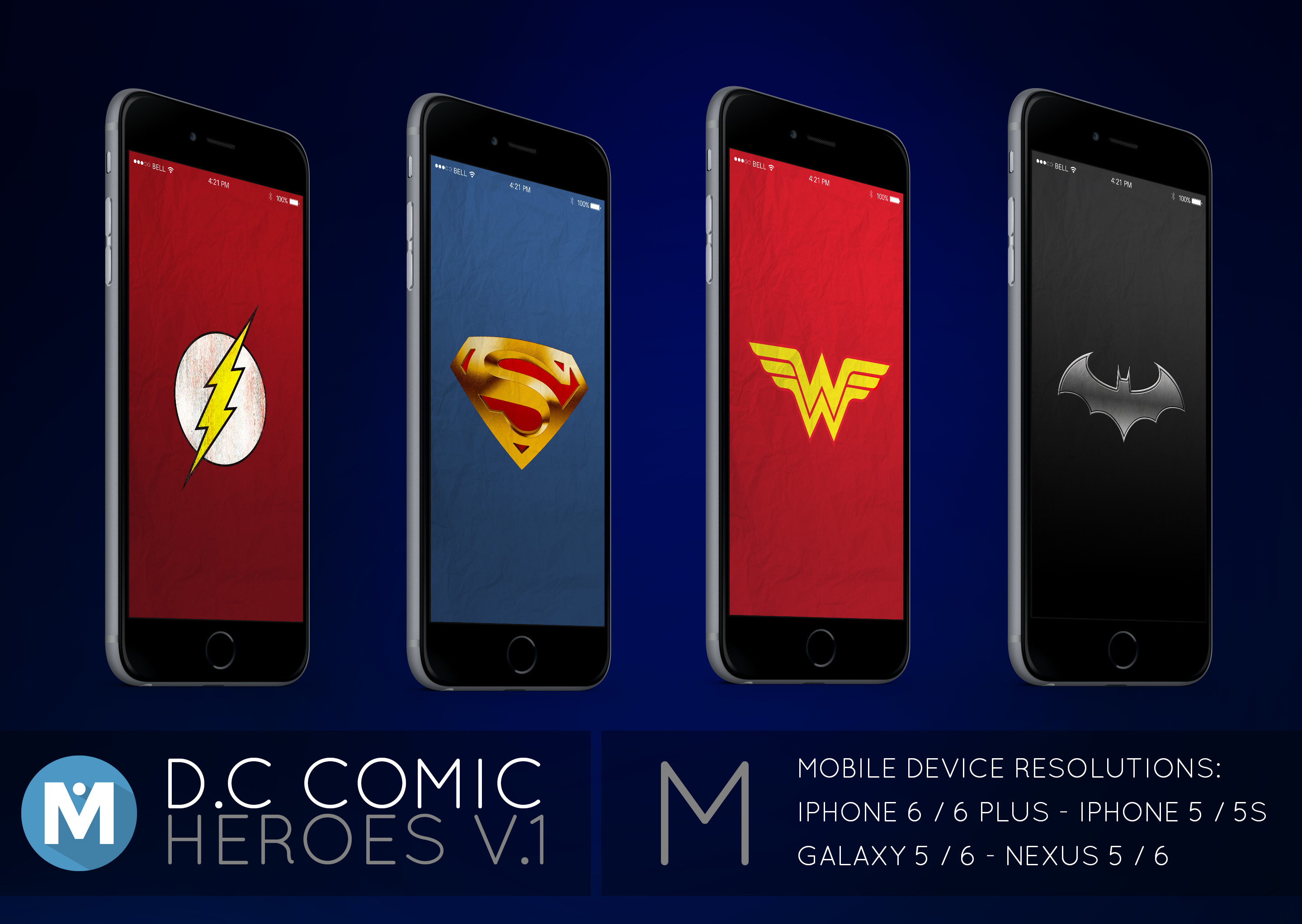Res: 2880x2045, MOBILE : D.C Comic Heroes 1 Wallpaper Pack by polygn