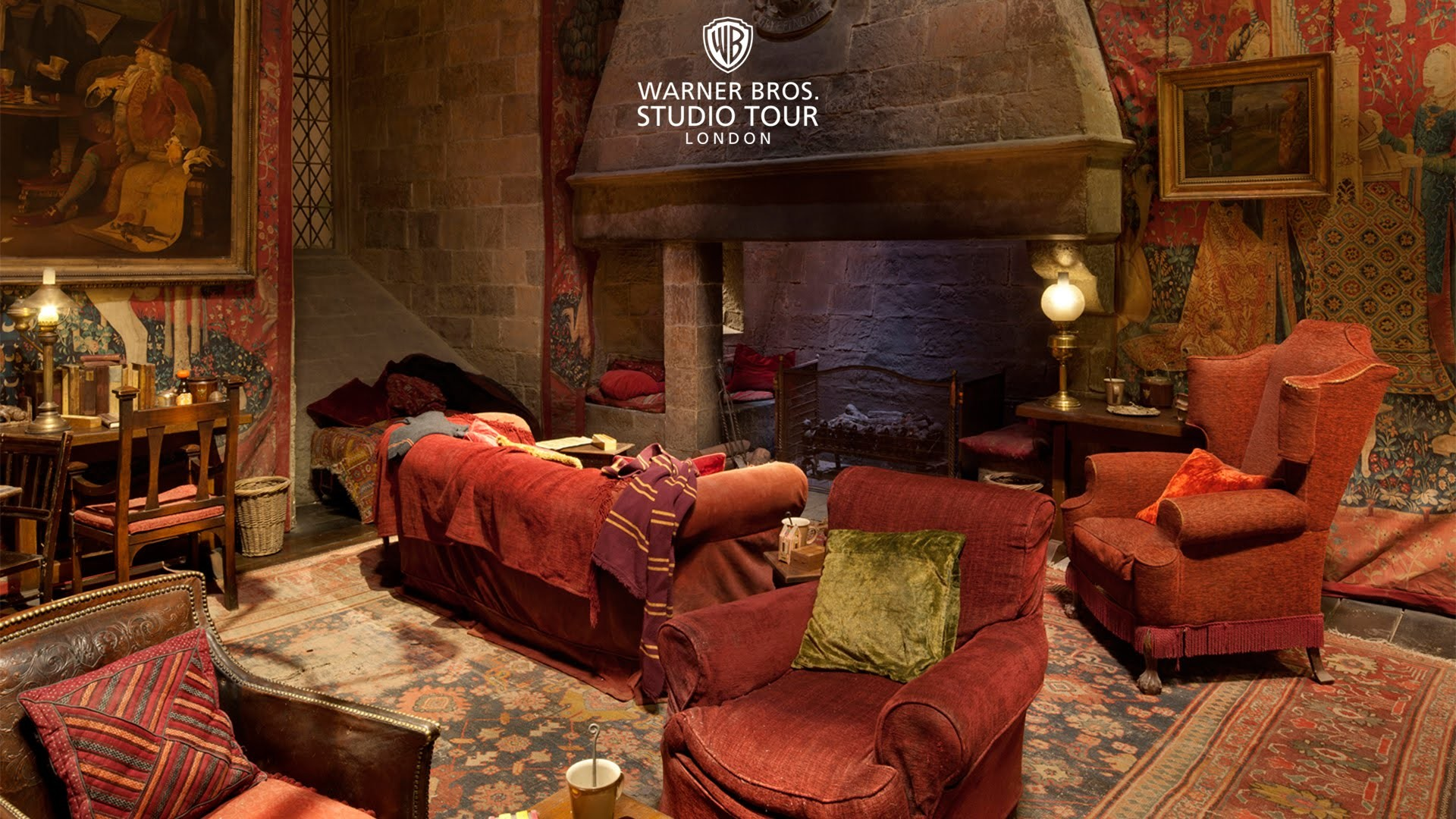 Res: 1920x1080, The Gryffindor Common Room Set In 360 Degrees Warner Bros Studio