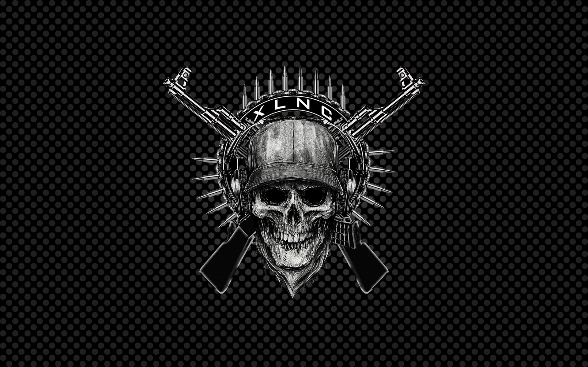 Res: 1920x1200, Dark - Skull Wallpaper