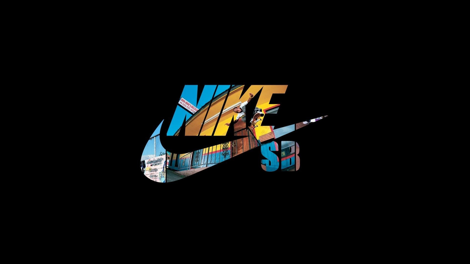 Res: 1920x1080, Nike, Just Do It, Logo, Black Background - HD wallpapers