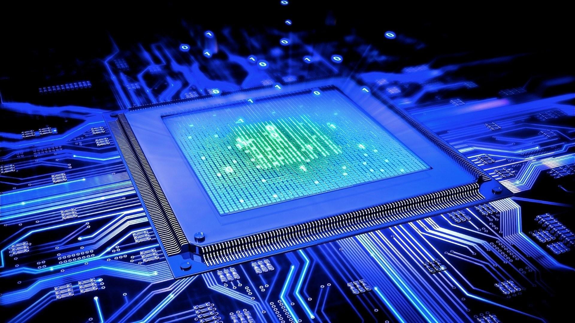 Res: 1920x1080, Technologie - Schaltung Computer CPU Wallpaper