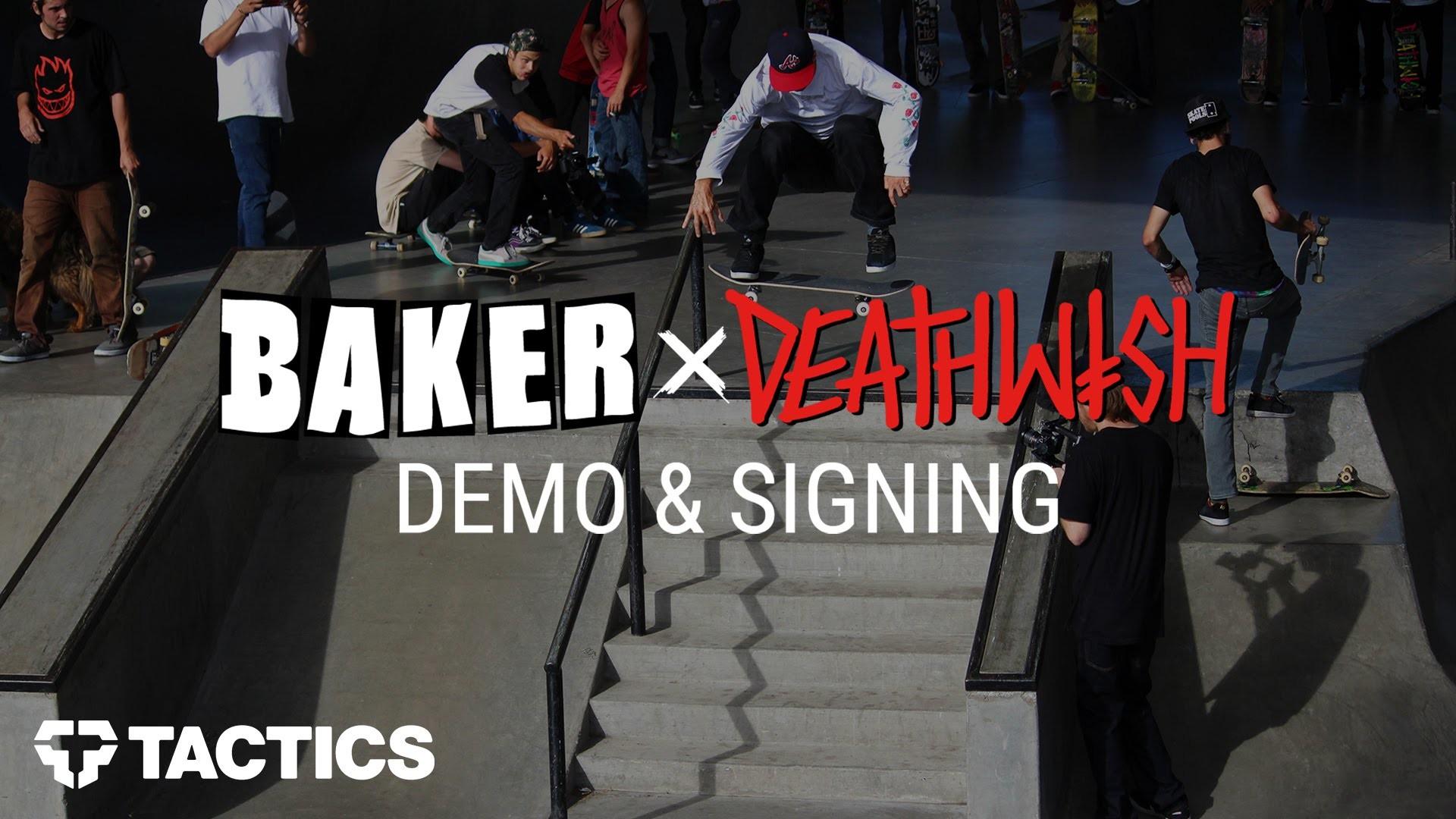 Res: 1920x1080, Baker x Deathwish Skateboards Demo & Signing at WJ Skatepark - Tactics.com  - YouTube