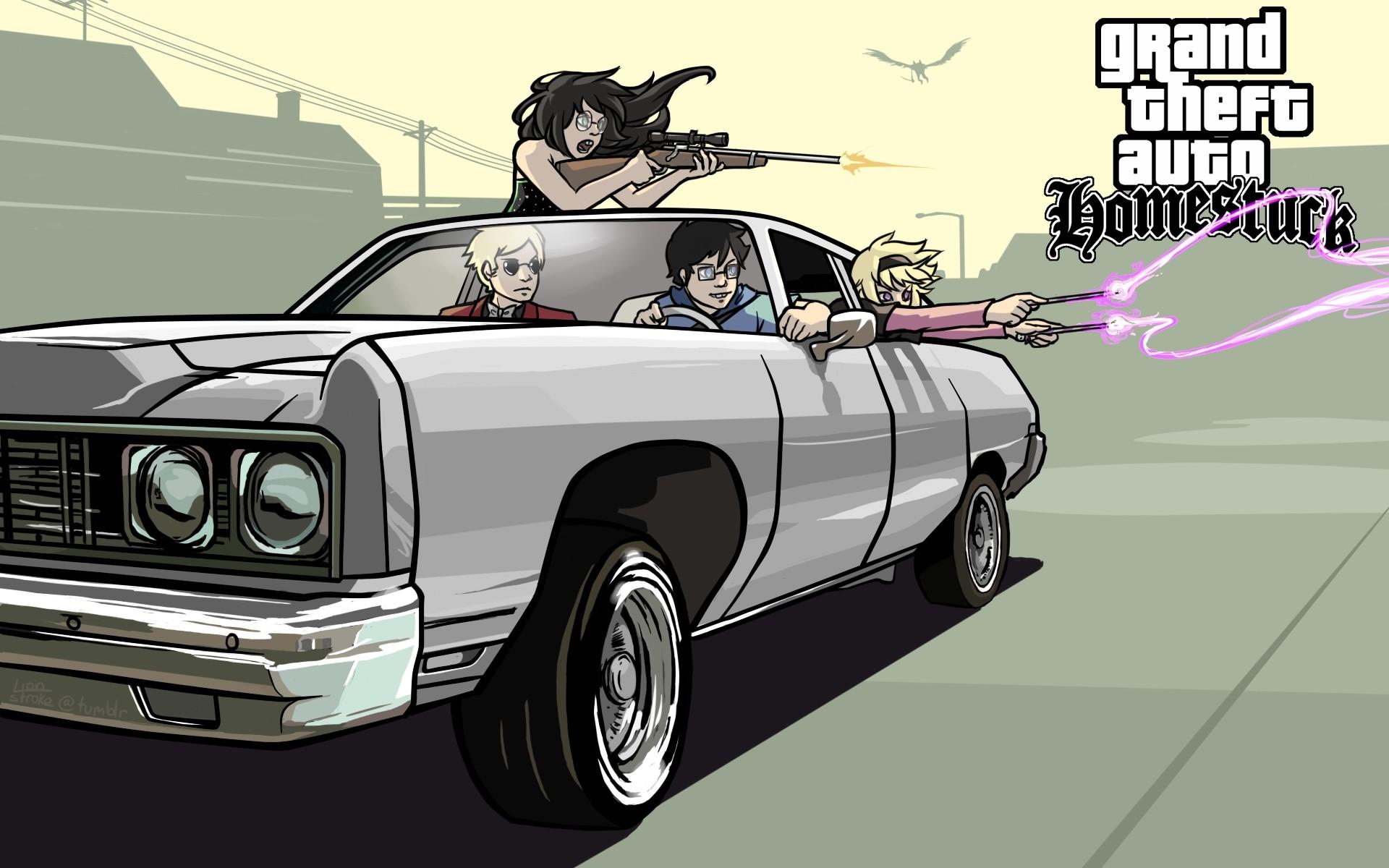 Res: 1920x1200, Grand Theft Auto Homestuck