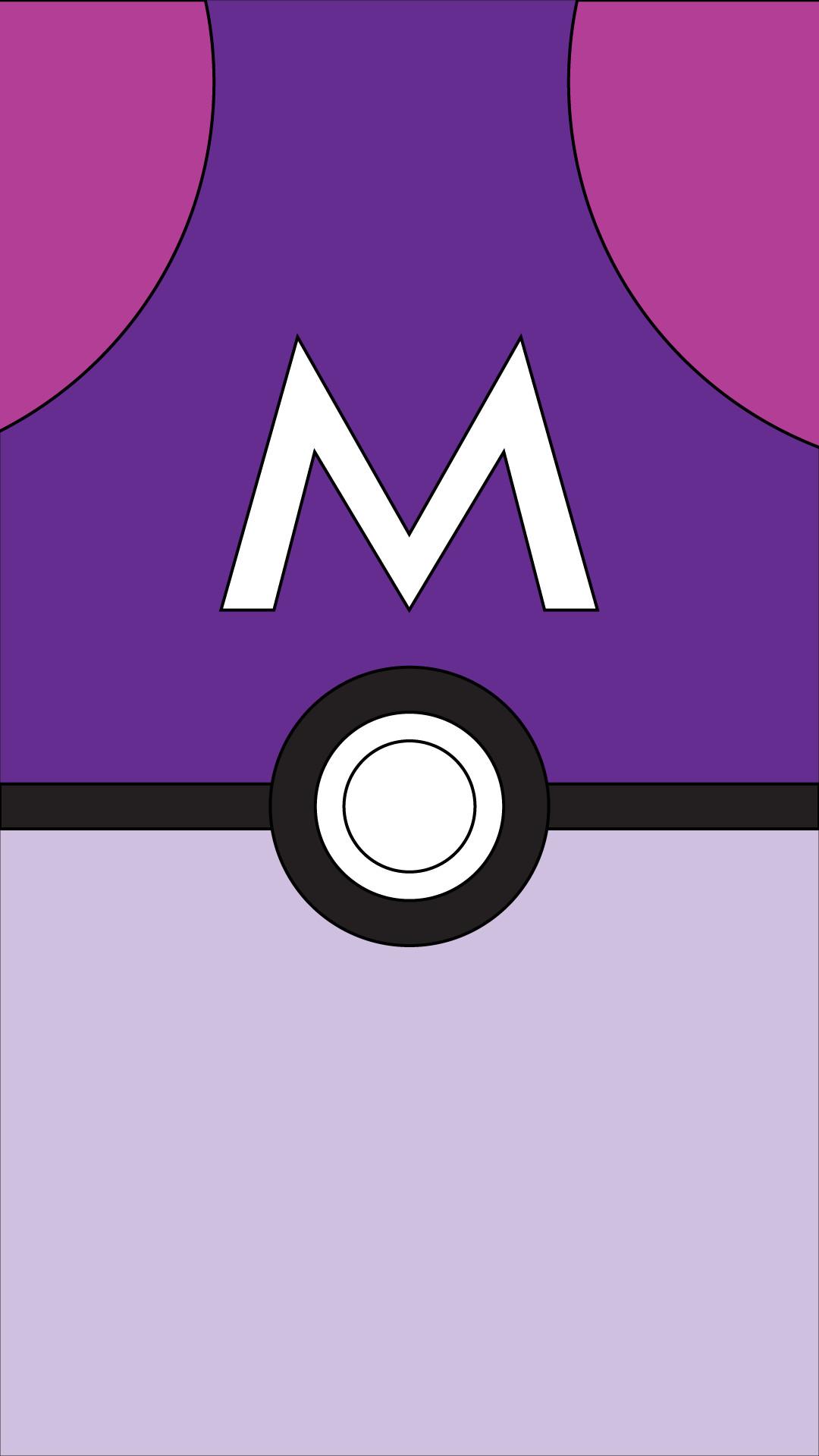 Res: 1080x1920, master ball pokeball pokemon poke ball nintendo minimalist wallpaper