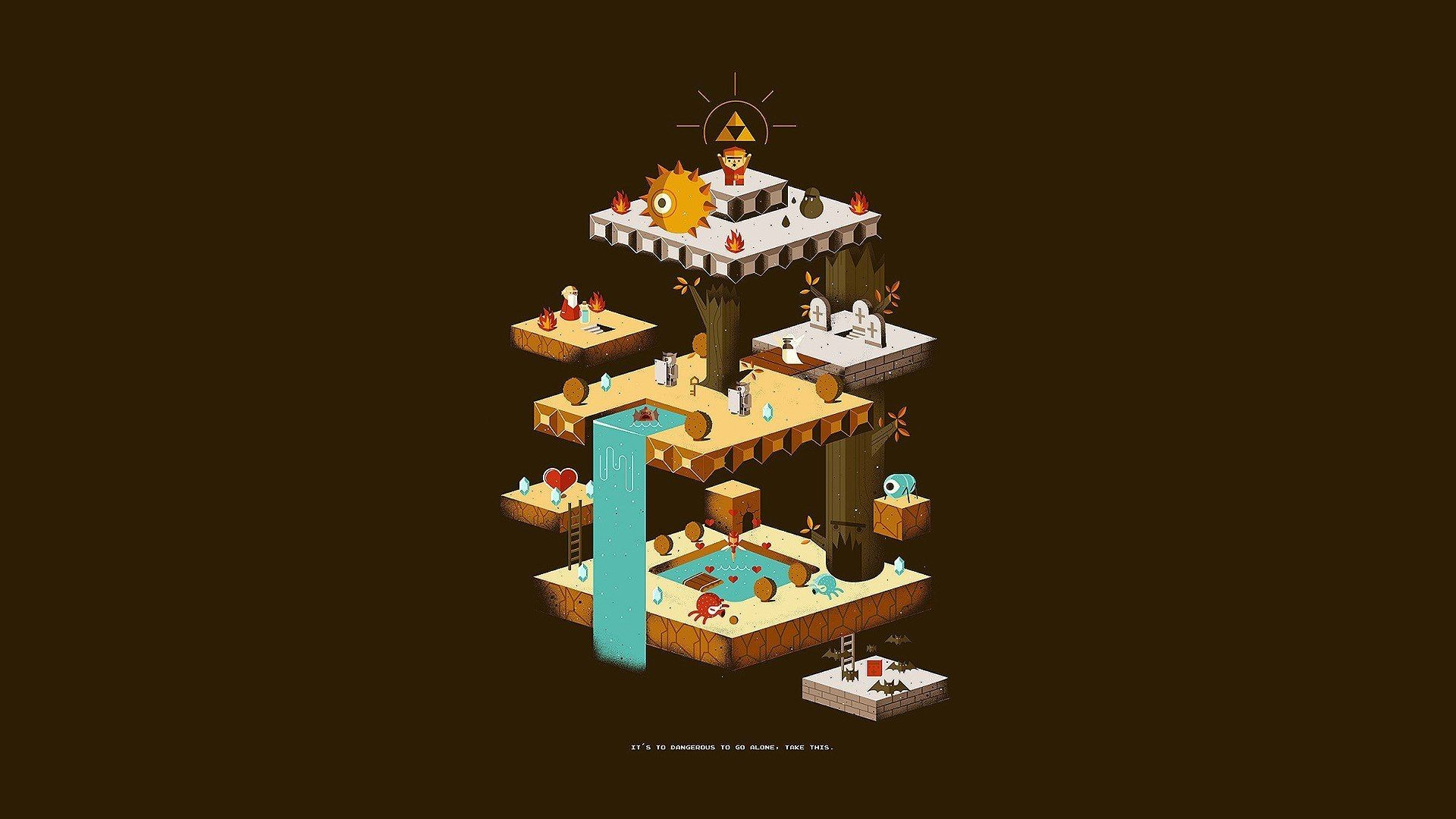 Res: 1920x1080, classics,fan art,Nintendo,retro games,simple background,video games,Zelda, wallpaper