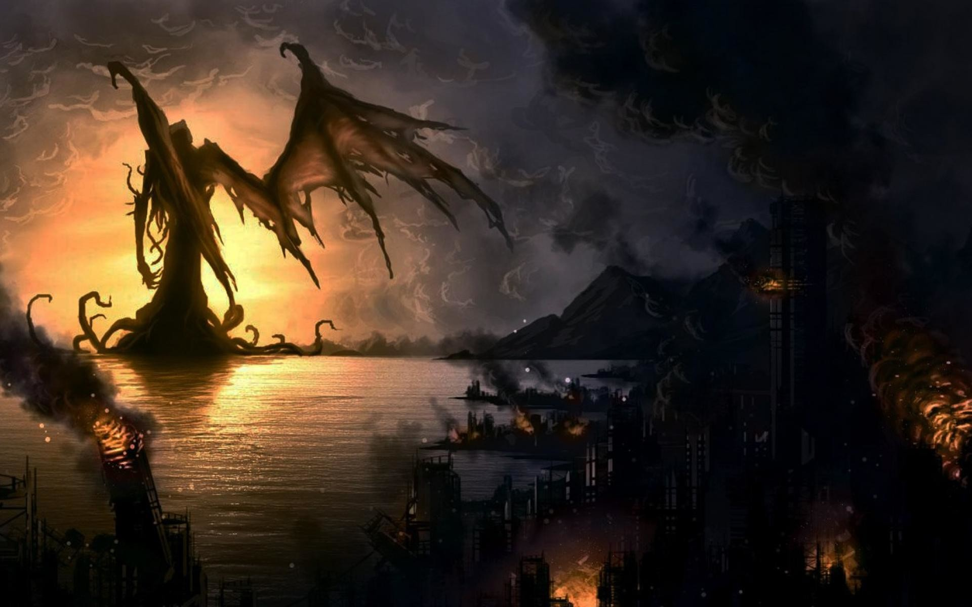 Res: 1920x1200, Cthulhu Wallpapers - Full HD wallpaper search